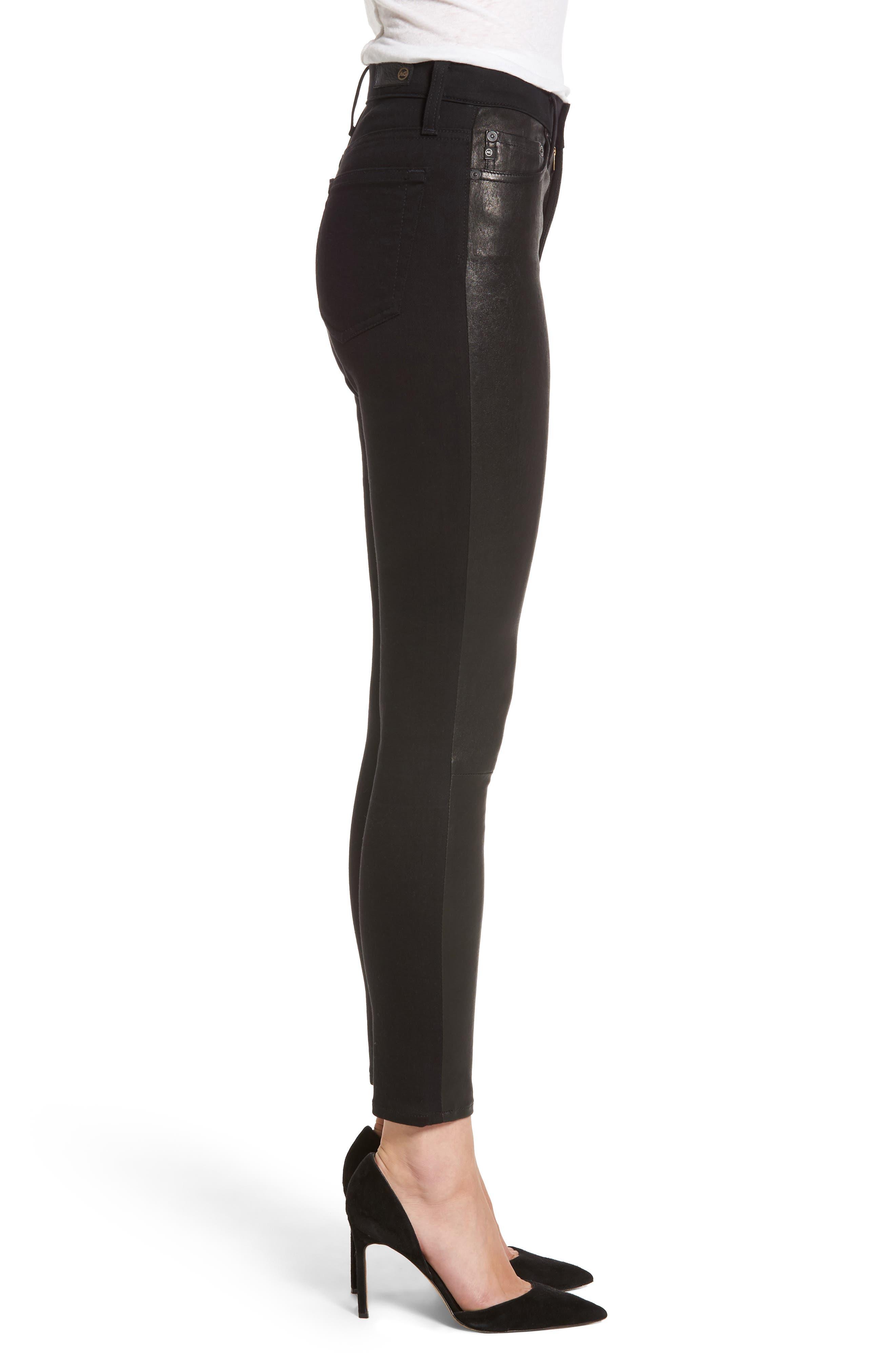 The Farrah High Waist Ankle Skinny Faux Leather Pants,                             Alternate thumbnail 9, color,