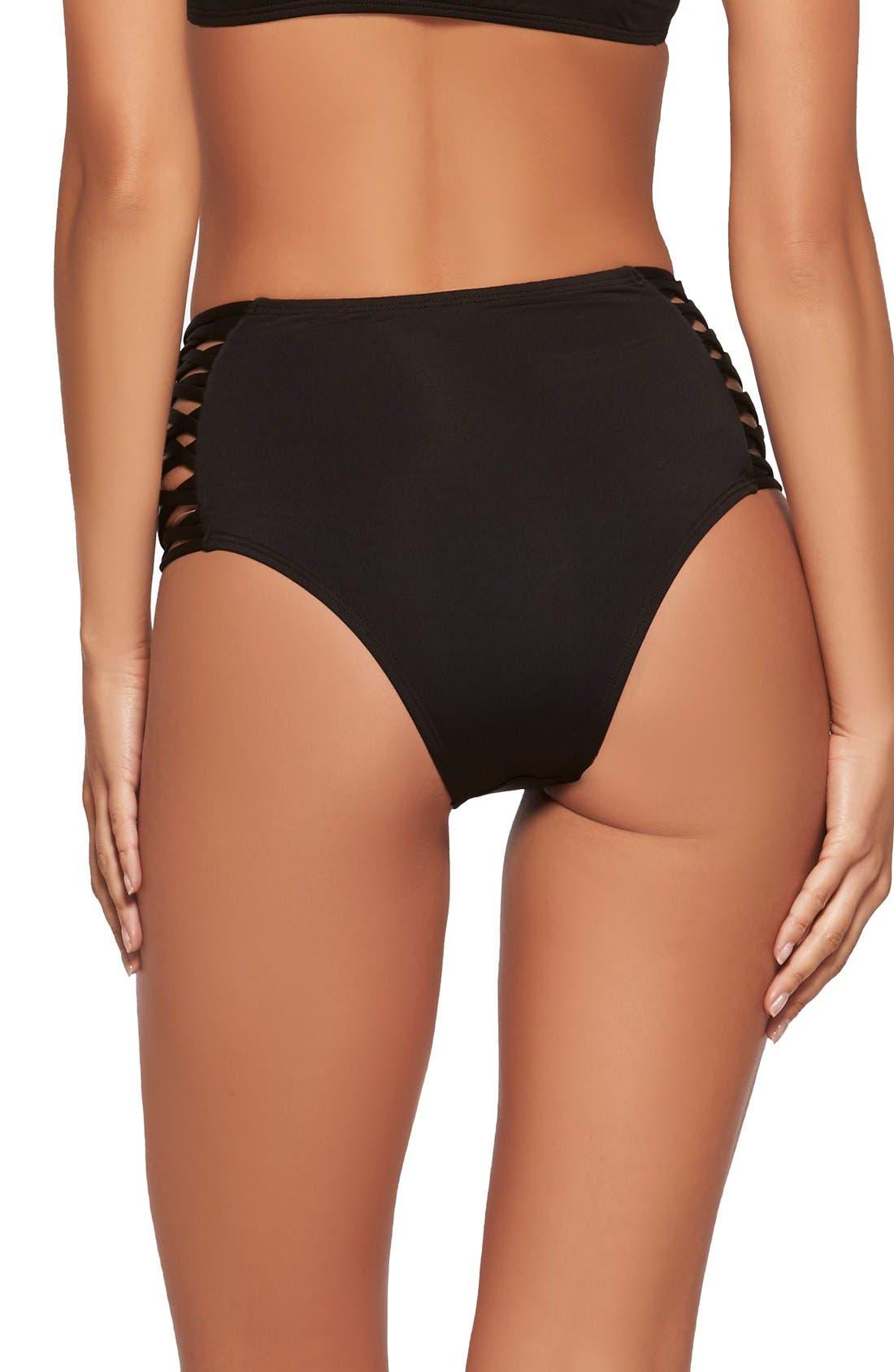 Tigress Classic High Waist Bikini Bottoms,                             Alternate thumbnail 2, color,                             001