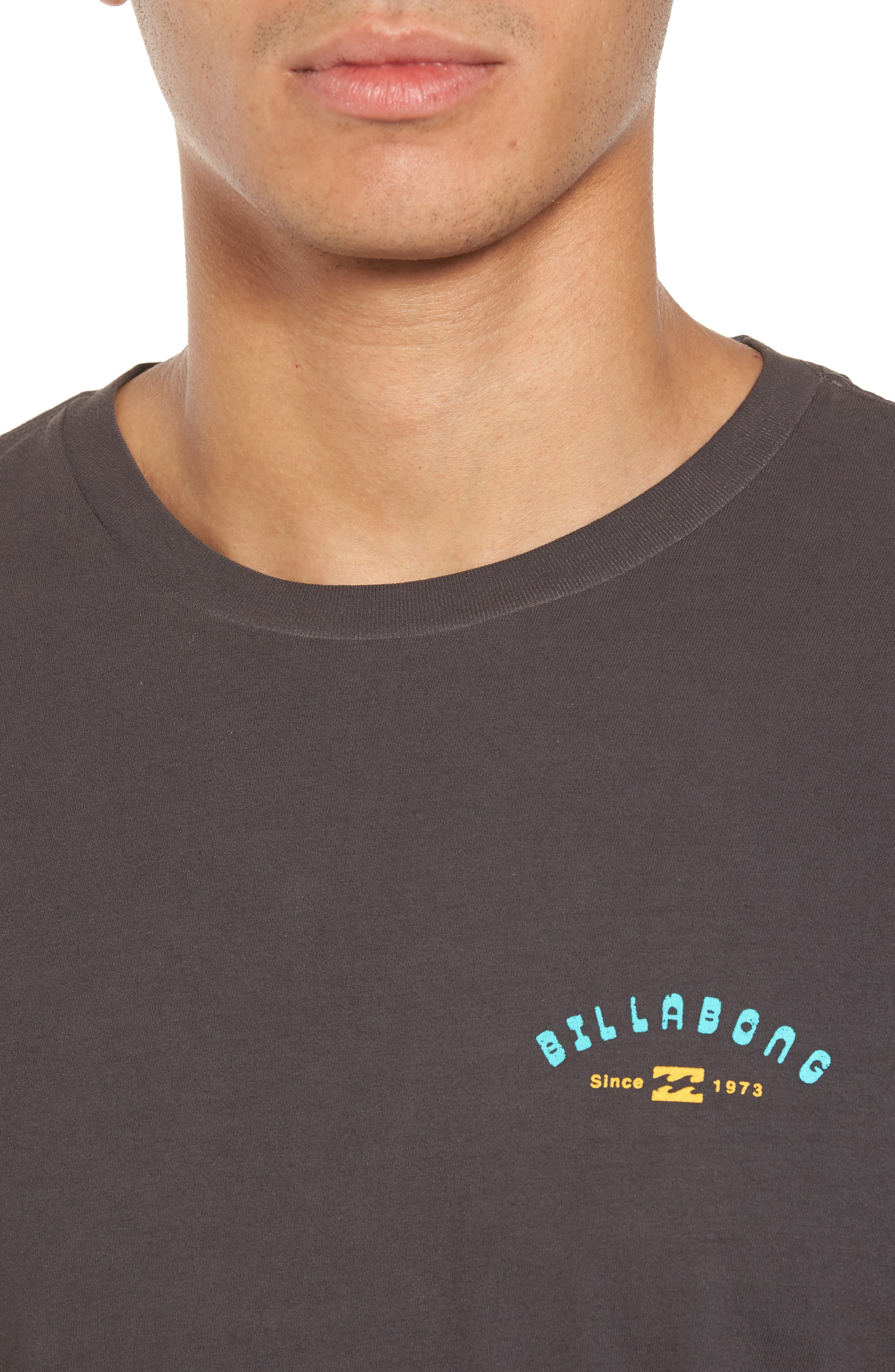 Single Fin Graphic T-Shirt,                             Alternate thumbnail 4, color,                             010