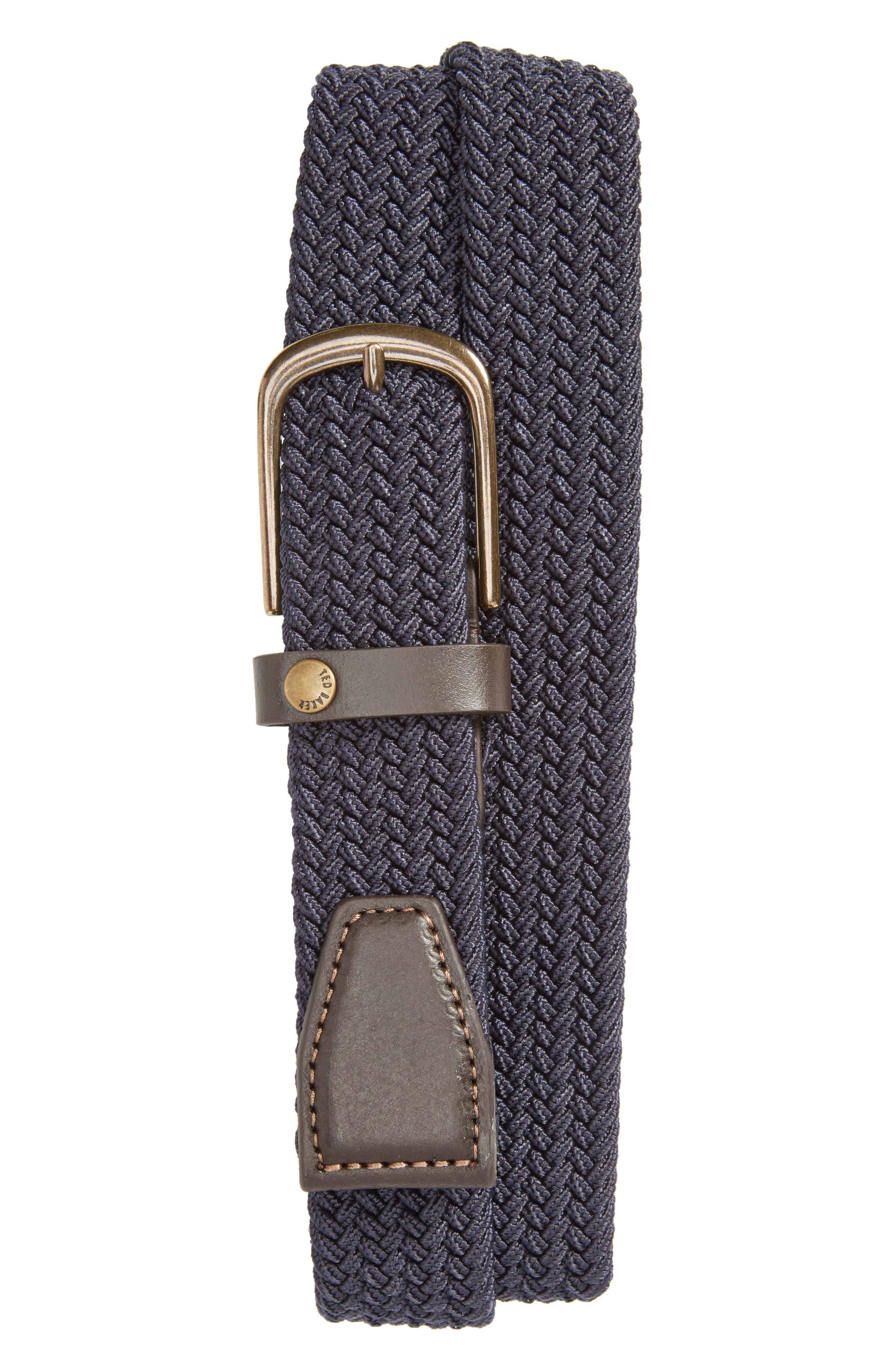 Gerbera Marled Woven Stretch Belt,                             Main thumbnail 1, color,                             410
