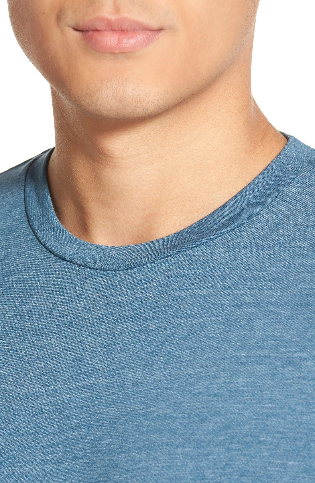 Scallop Triblend Crewneck T-Shirt,                             Alternate thumbnail 113, color,