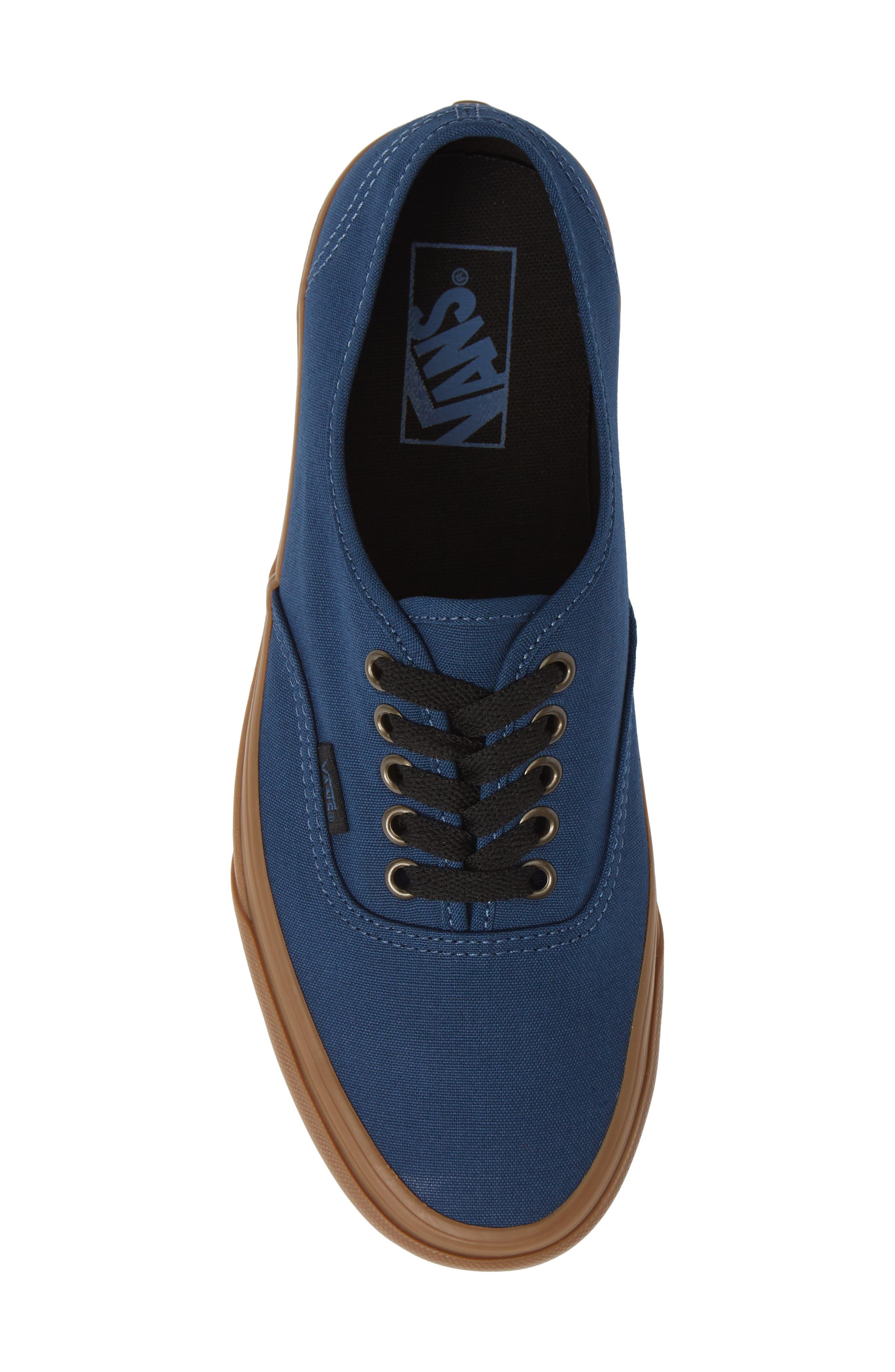 VANS,                             Authentic Gum Outsole Sneaker,                             Alternate thumbnail 5, color,                             401