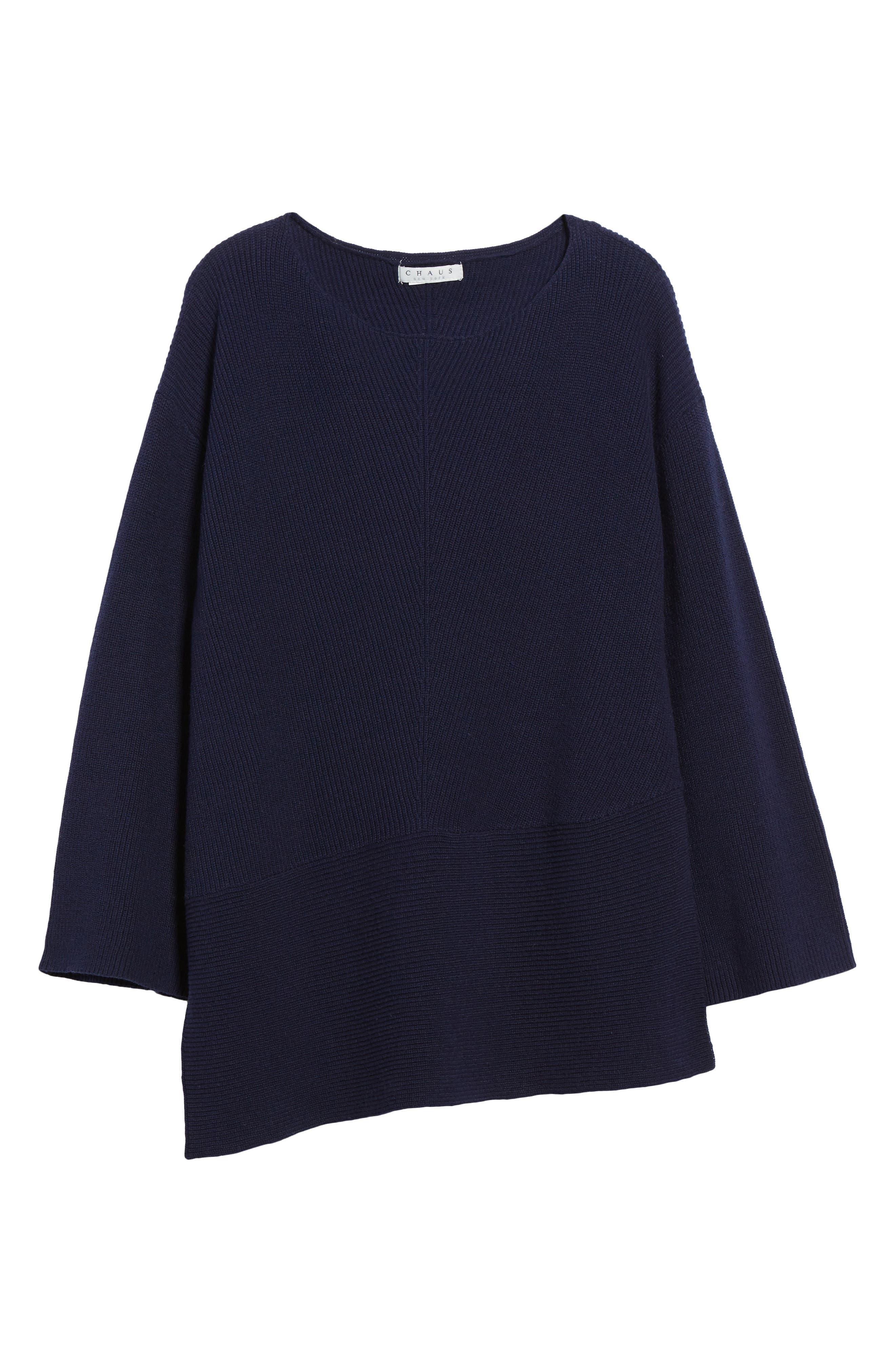 Ribbed Asymmetrical Hem Sweater,                             Alternate thumbnail 6, color,                             429
