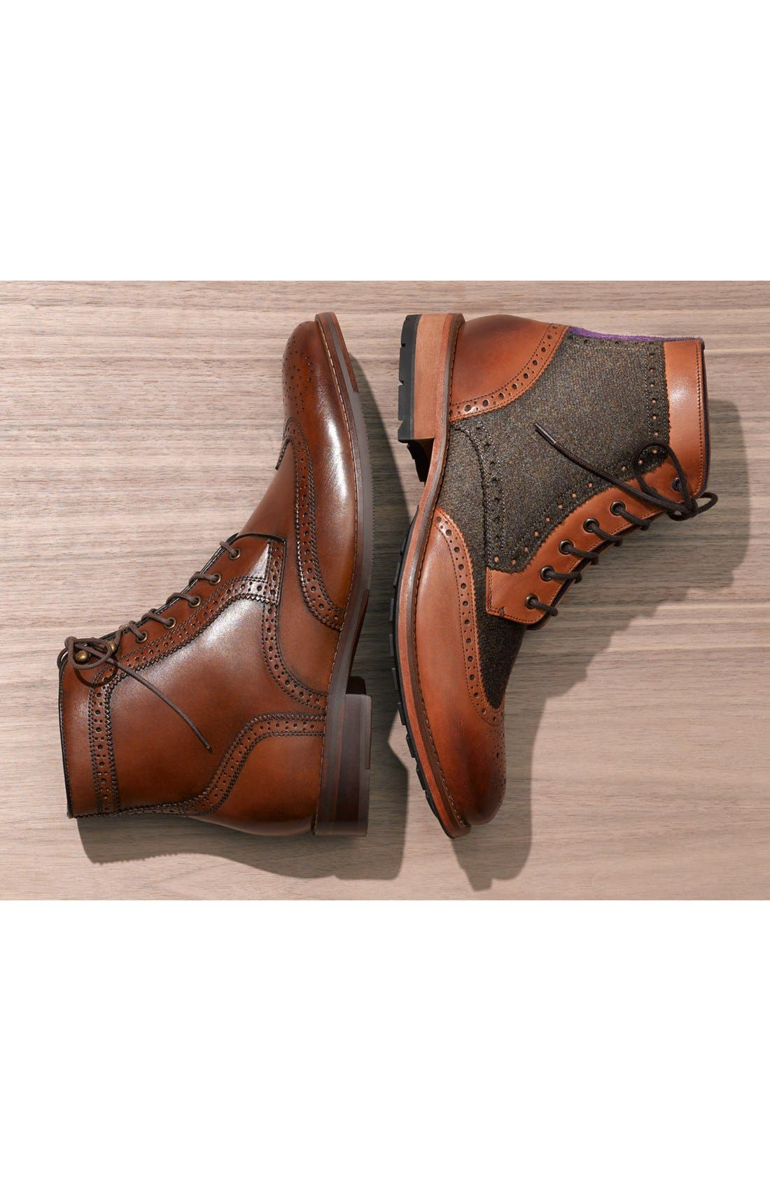 'Sealls 3' Wingtip Boot,                             Alternate thumbnail 6, color,                             001