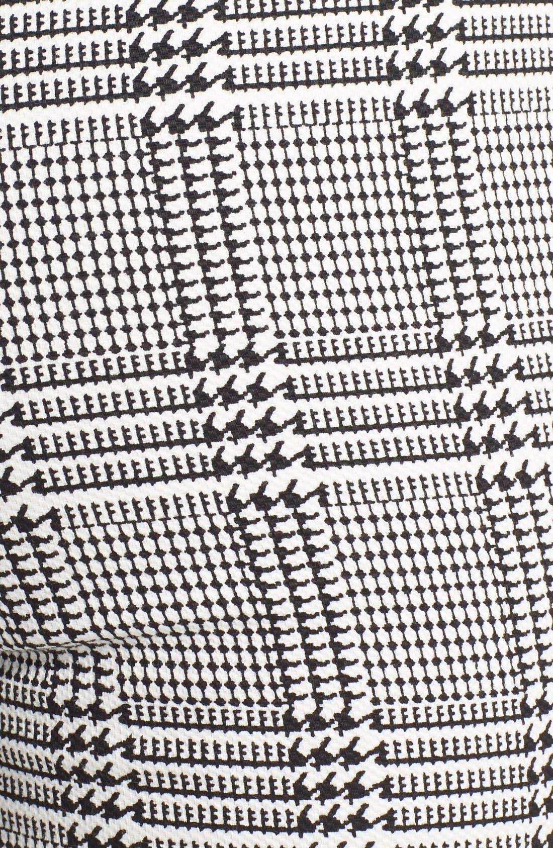 Houndstooth High Waist Leggings,                             Alternate thumbnail 6, color,                             001