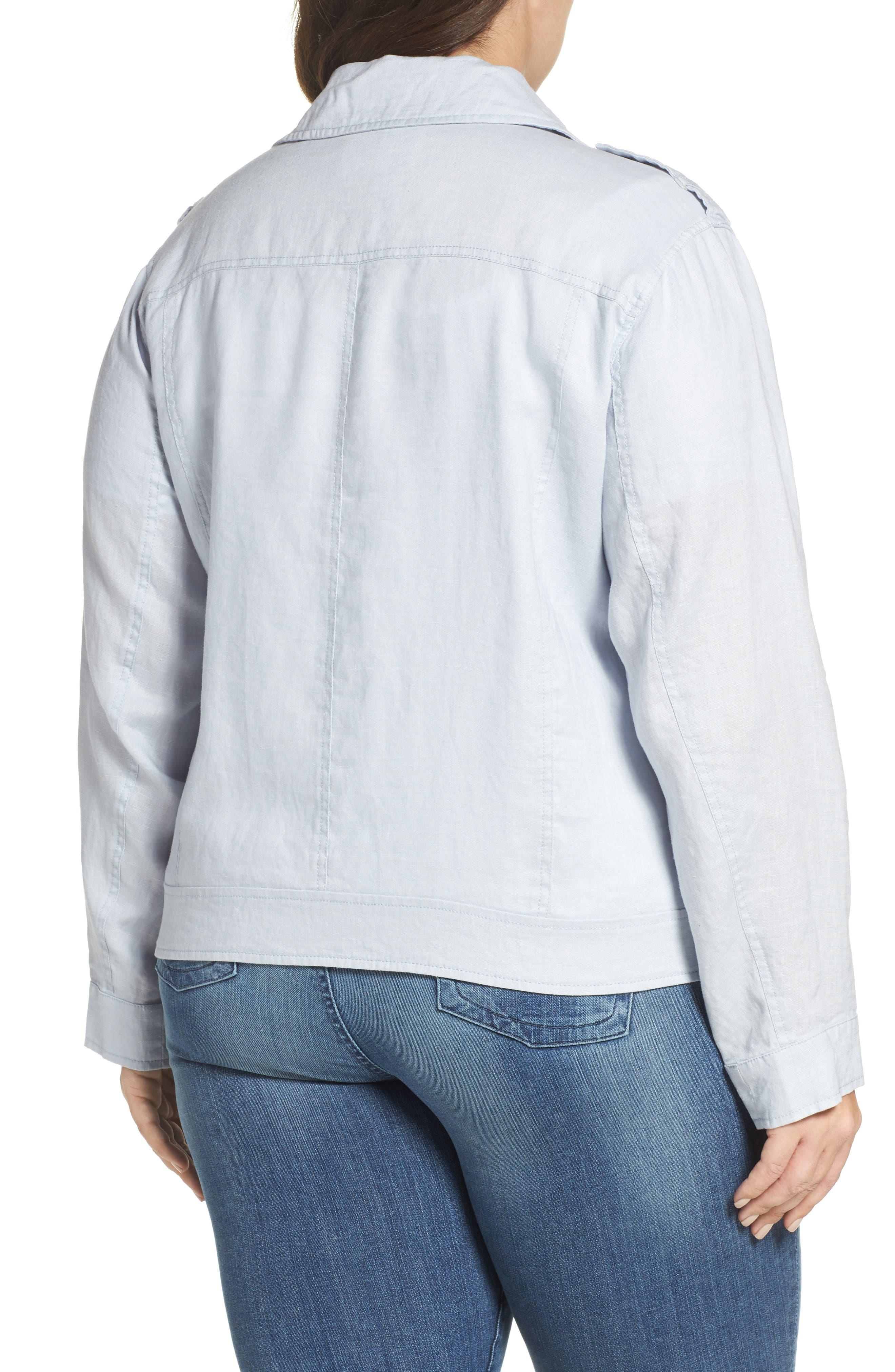 Drapey Linen Moto Jacket,                             Alternate thumbnail 2, color,                             050