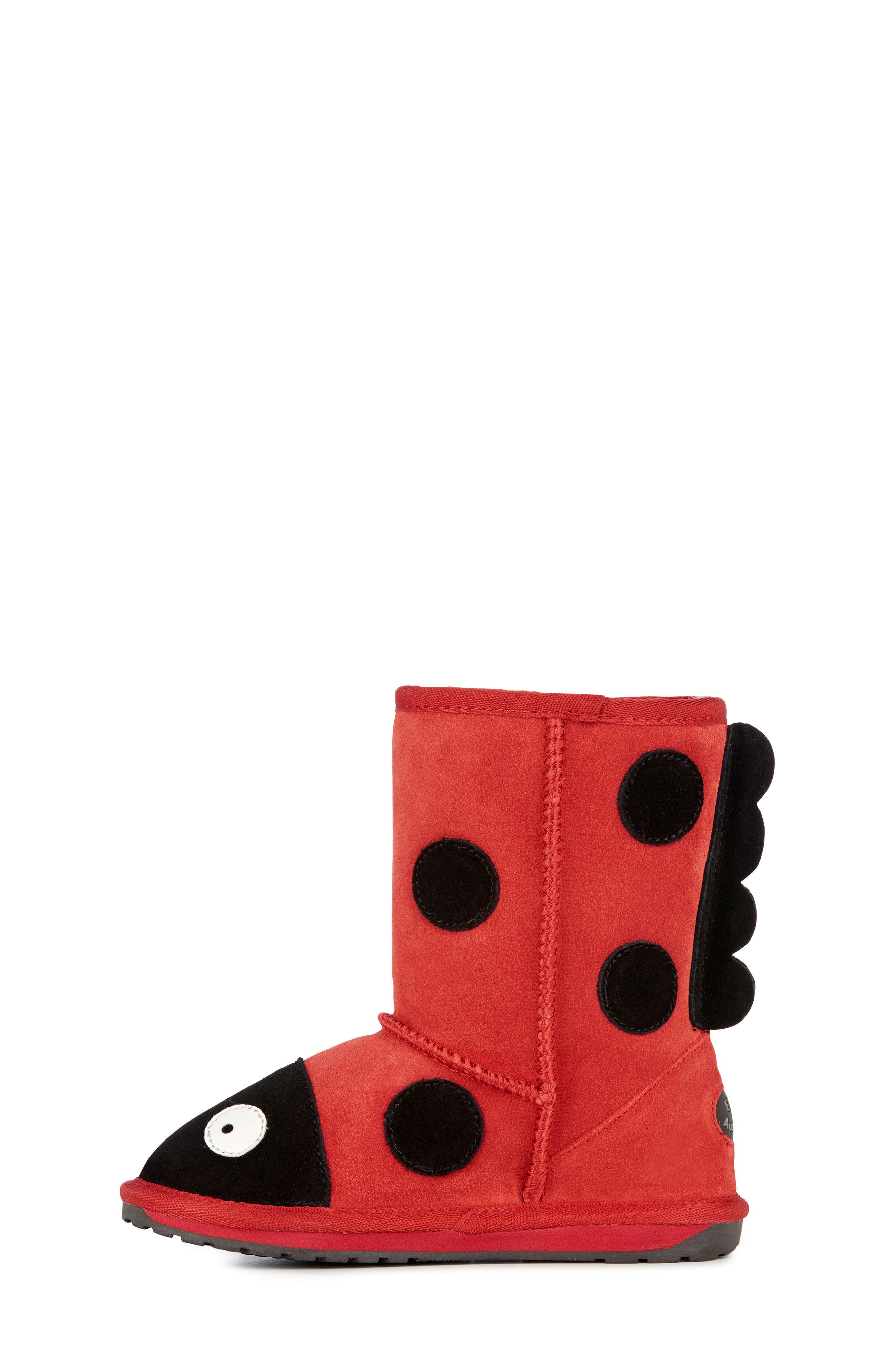 Little Creatures - Ladybug Boot,                             Alternate thumbnail 8, color,                             RED