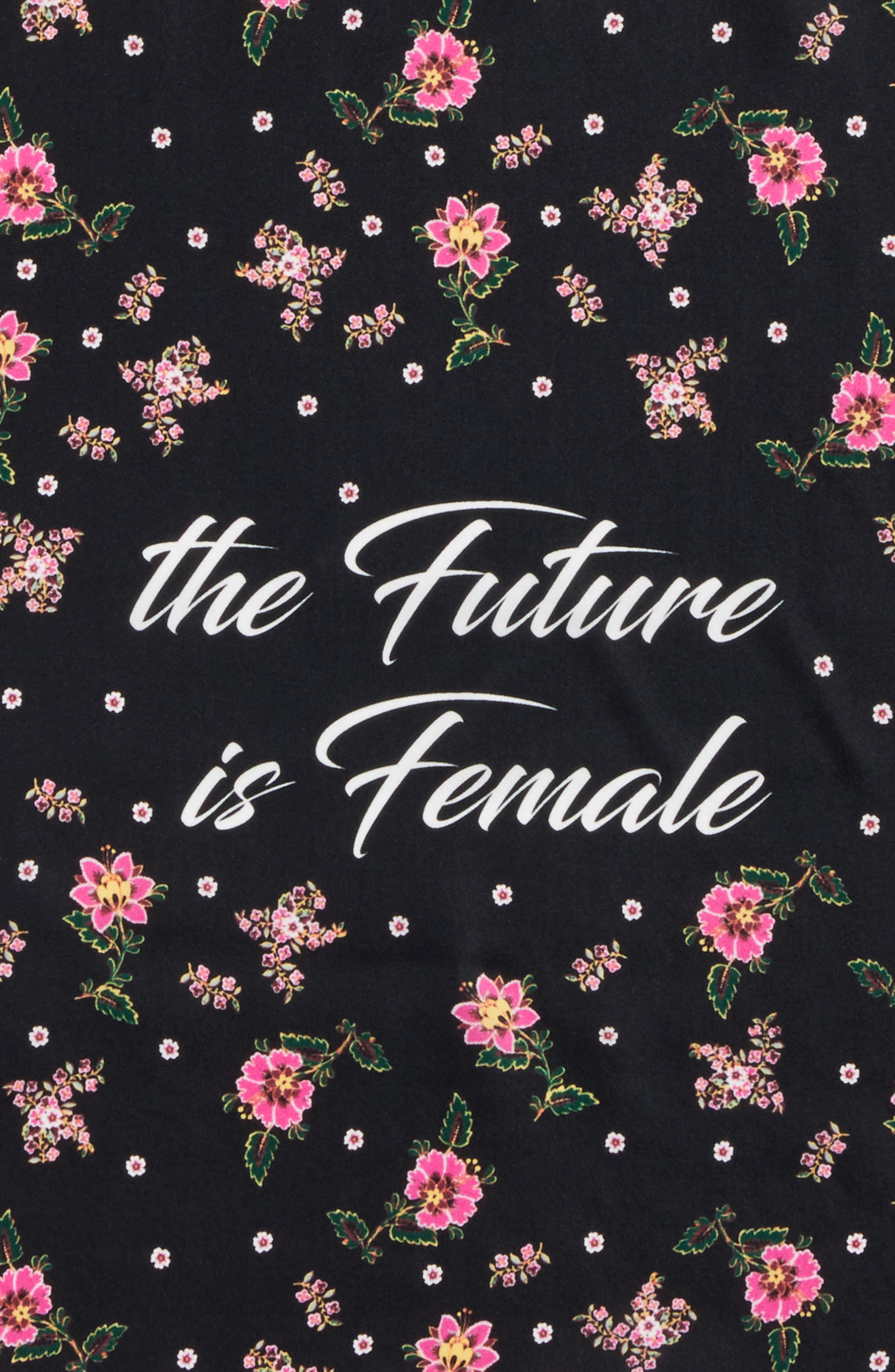 The Future is Female Silk Bandana,                             Alternate thumbnail 4, color,                             001