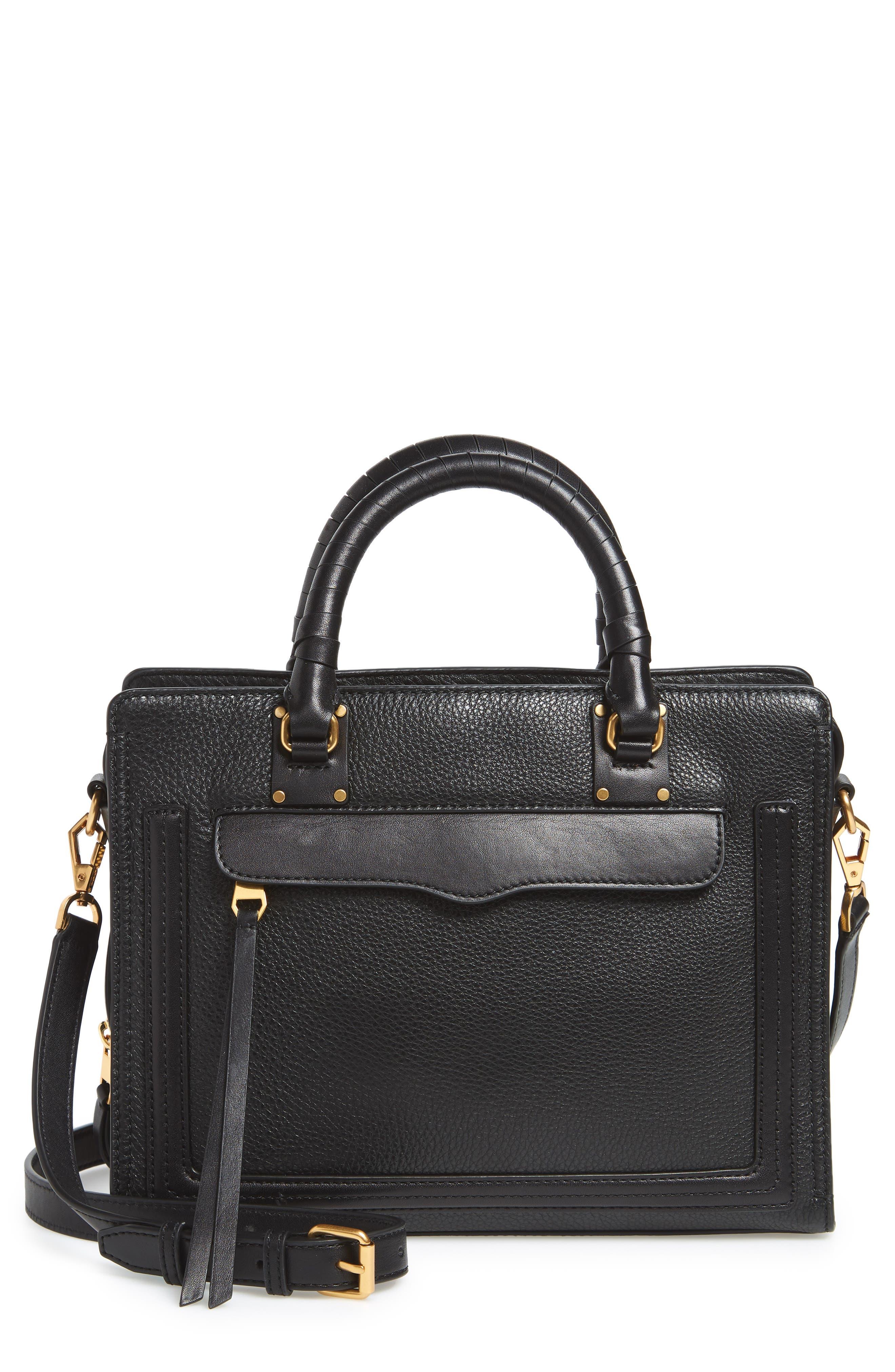 Medium Bree Leather Satchel,                         Main,                         color, 001