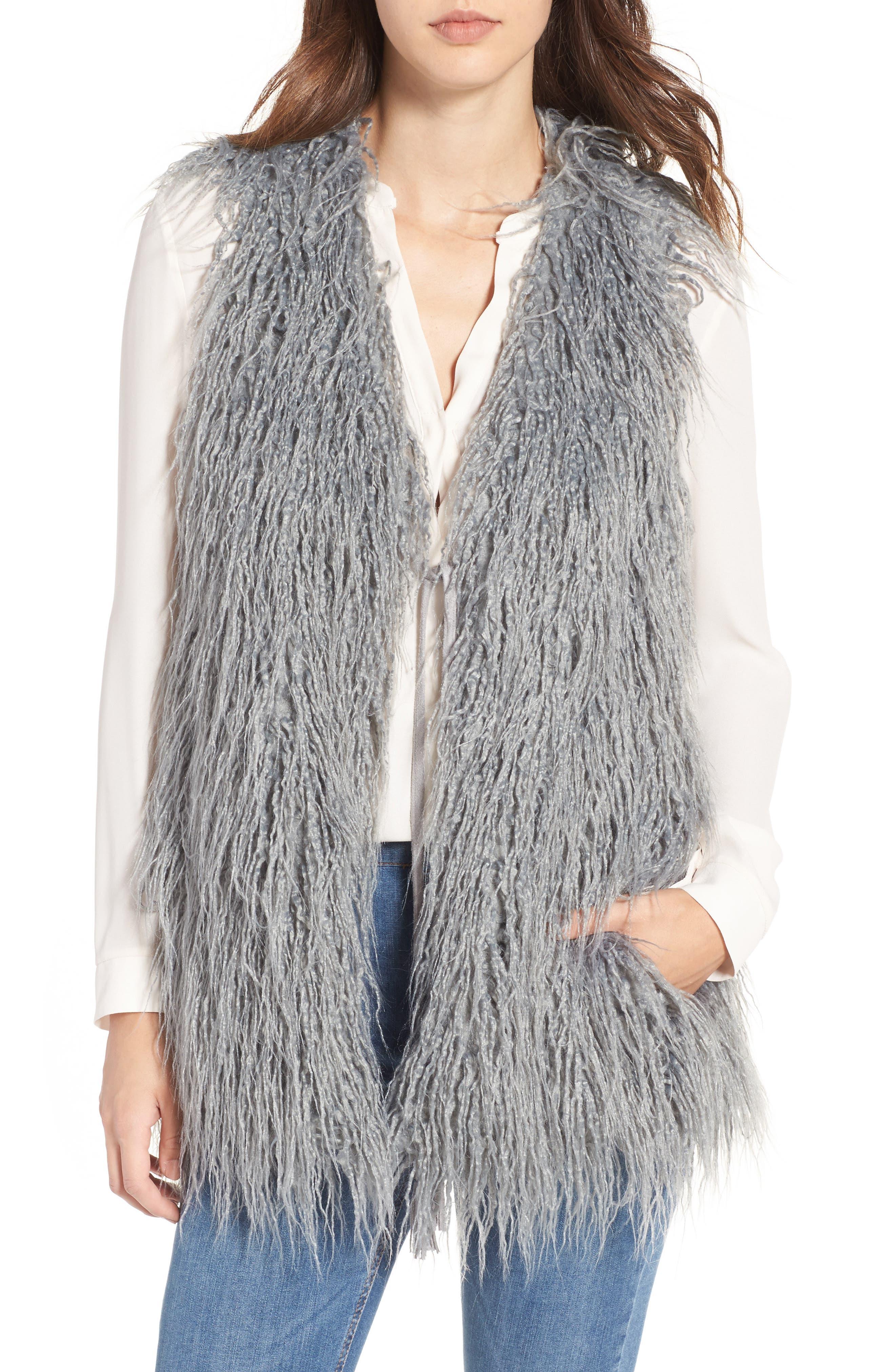 Luis Faux Fur Vest,                         Main,                         color,