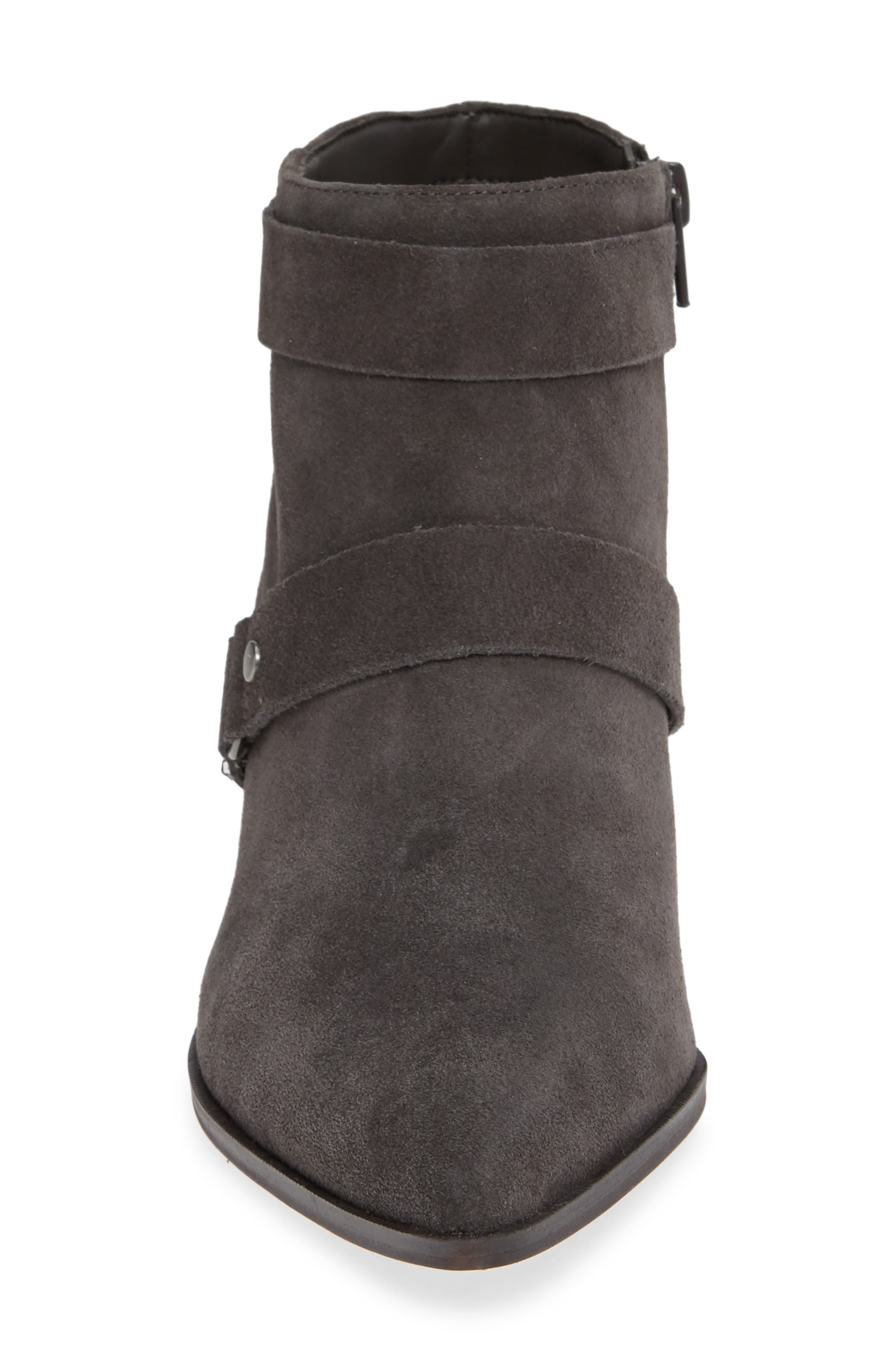 SOLE SOCIETY,                             Dariela Strappy Bootie,                             Alternate thumbnail 4, color,                             IRON SUEDE
