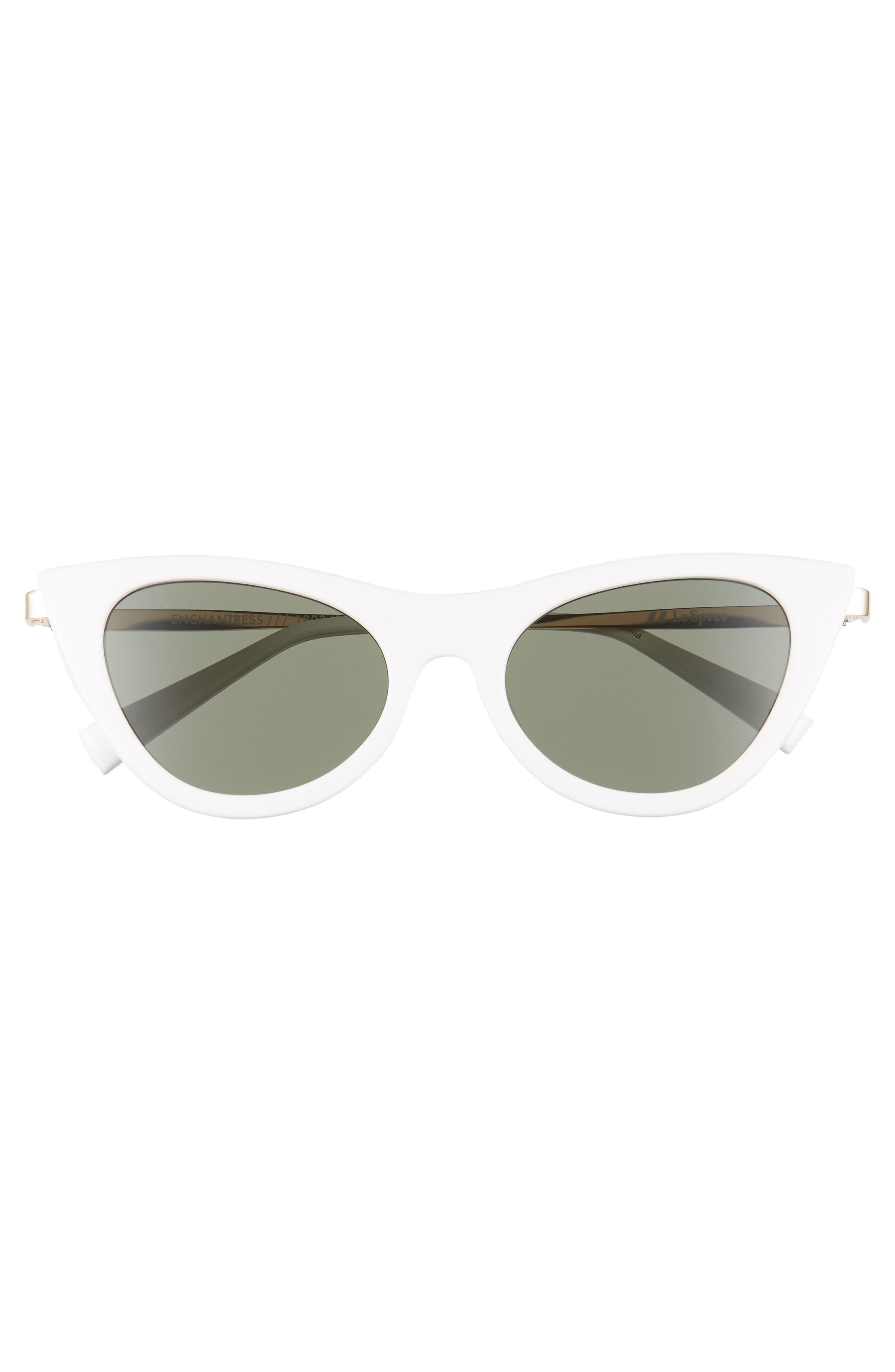 LE SPECS,                             Enchantress 50mm Cat Eye Sunglasses,                             Alternate thumbnail 3, color,                             100