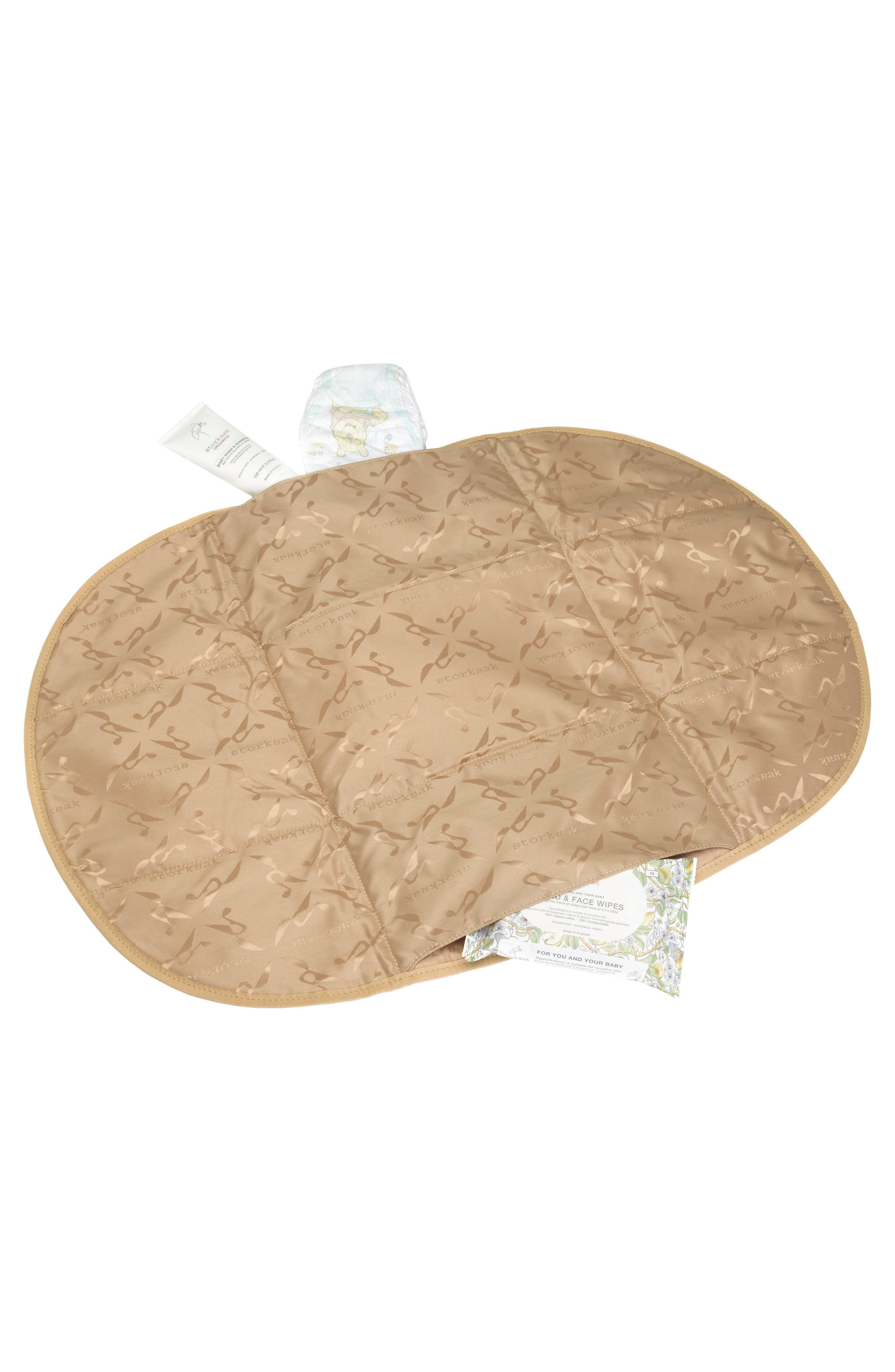 Kym Calfskin Leather Diaper Tote Bag,                             Alternate thumbnail 12, color,                             BLACK