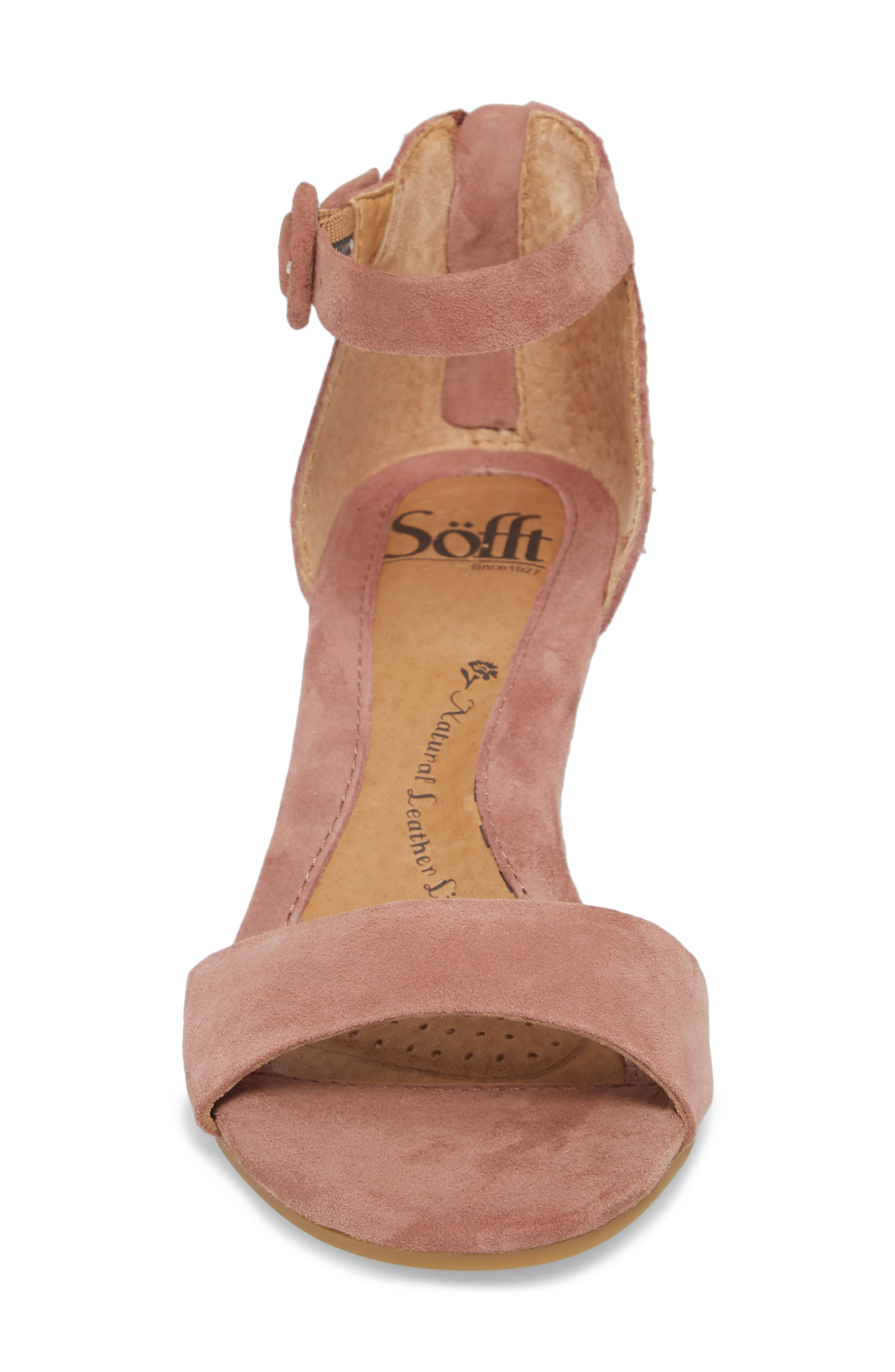 Marla Wedge Sandal,                             Alternate thumbnail 4, color,                             MULBERRY SUEDE