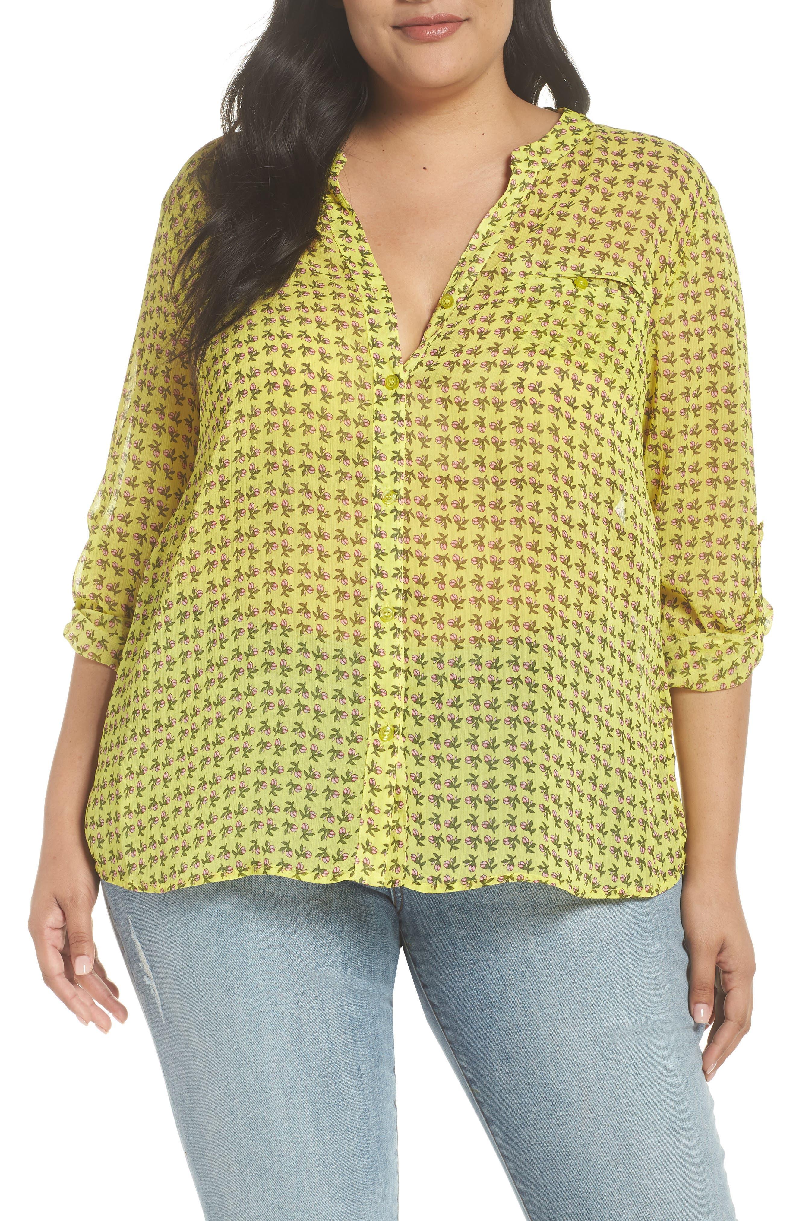 Jasmine Floral Roll Sleeve Top,                         Main,                         color, 702