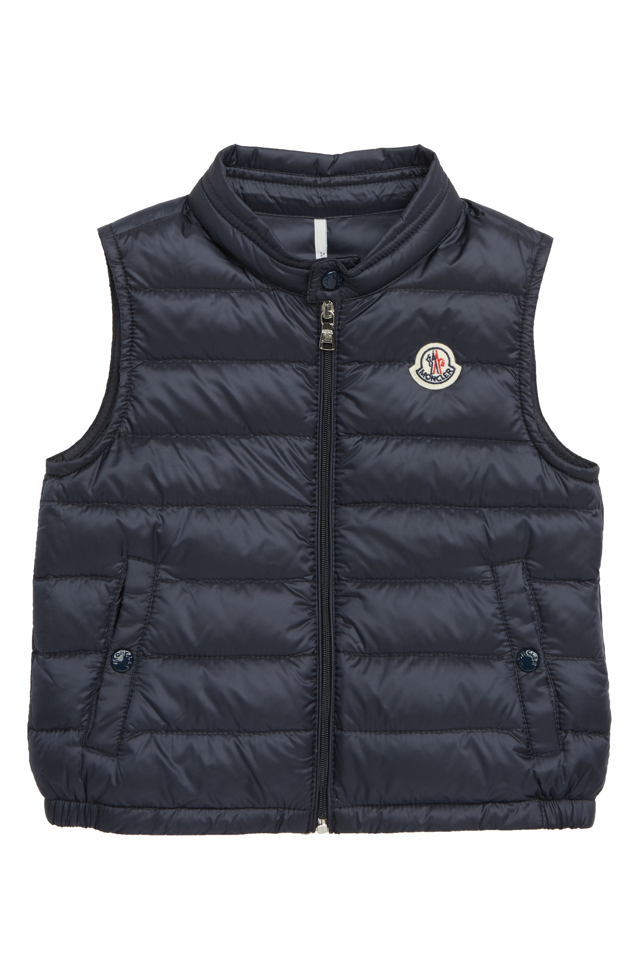 New Amaury Quilted Down Vest, Main, color, 778 NAVY
