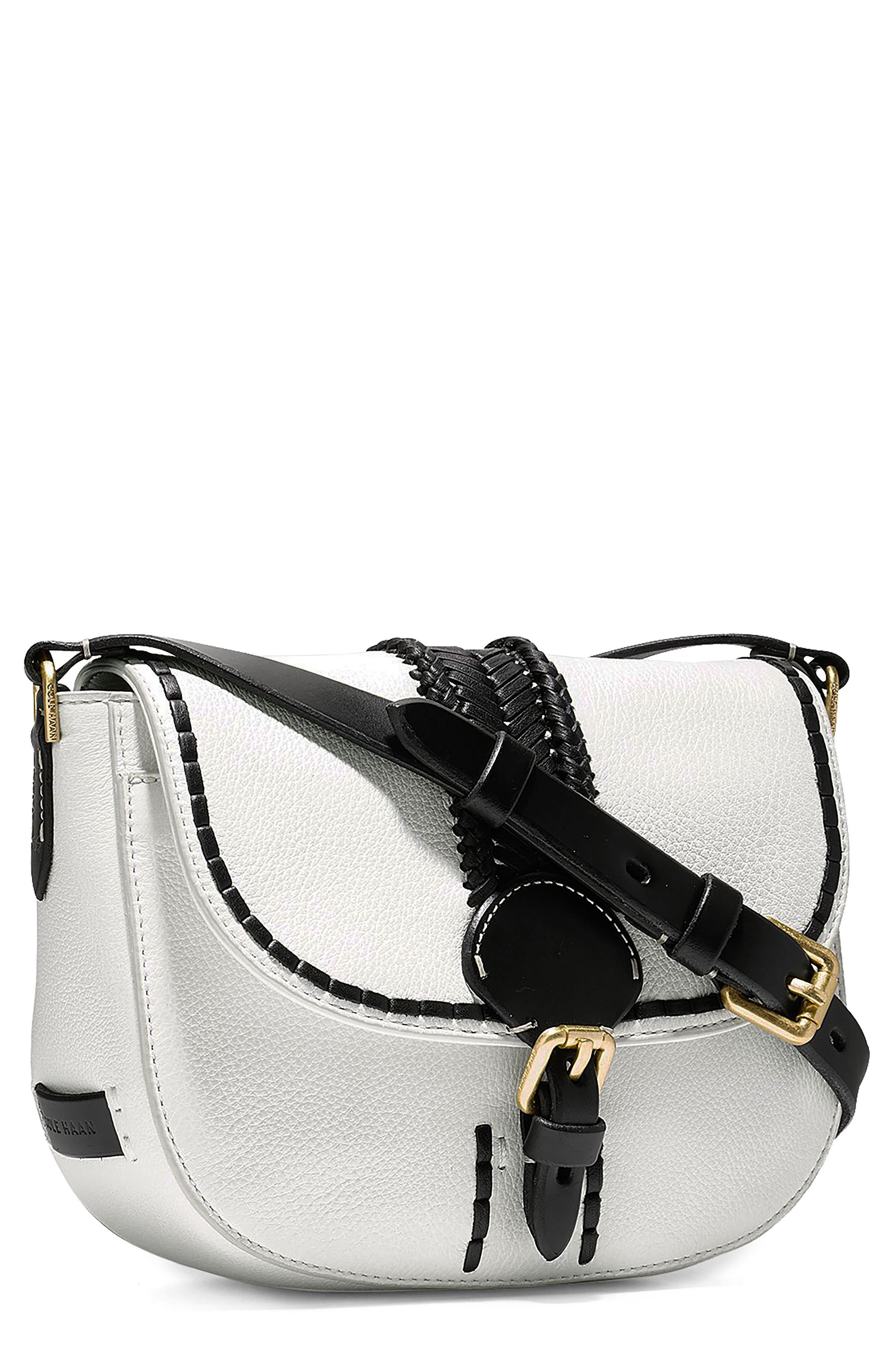 Mini Loralie Whipstitch Leather Saddle Bag,                             Main thumbnail 2, color,