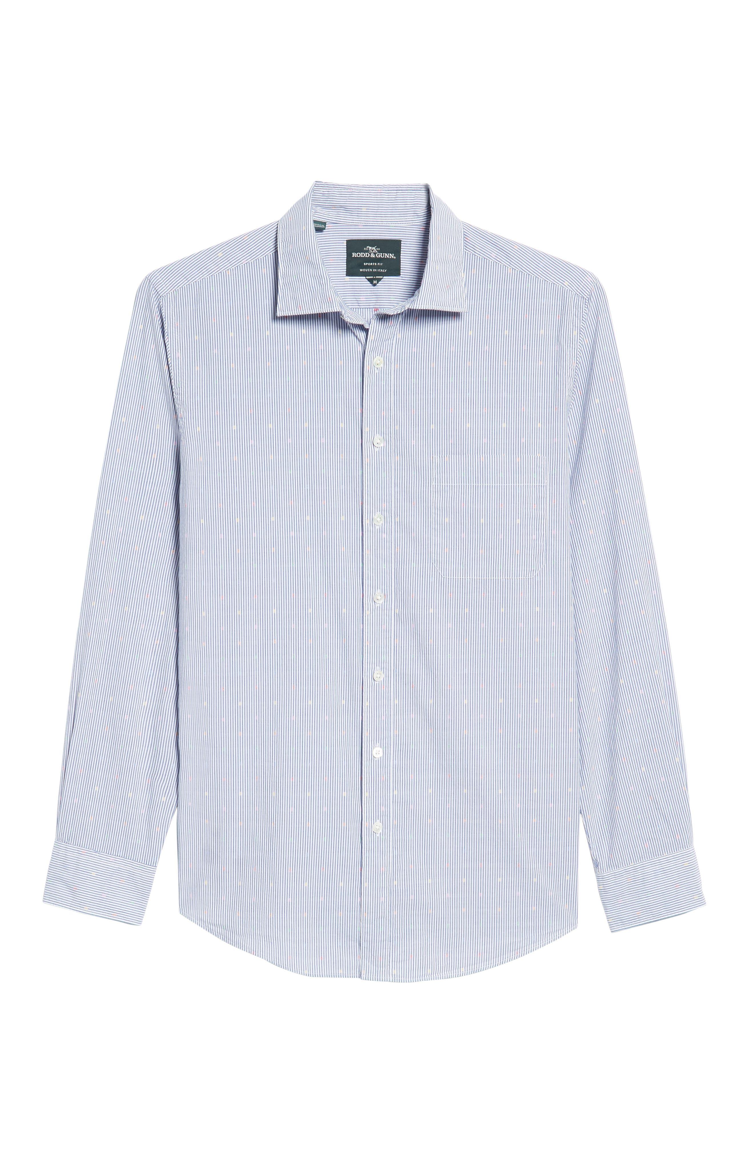 Tamaki River Woven Sport Shirt,                             Alternate thumbnail 6, color,                             423
