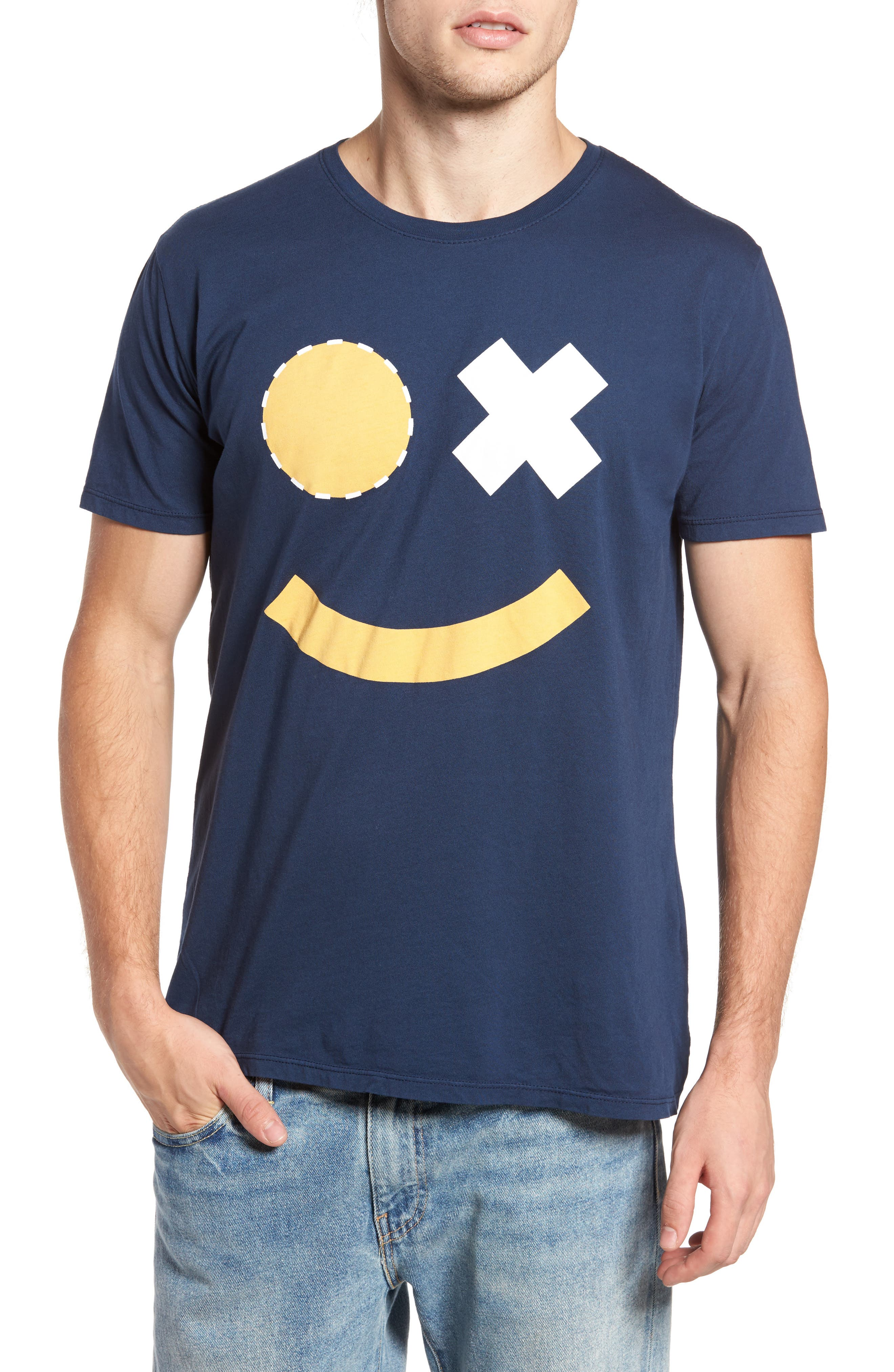 Smile Graphic T-Shirt,                             Main thumbnail 1, color,                             400