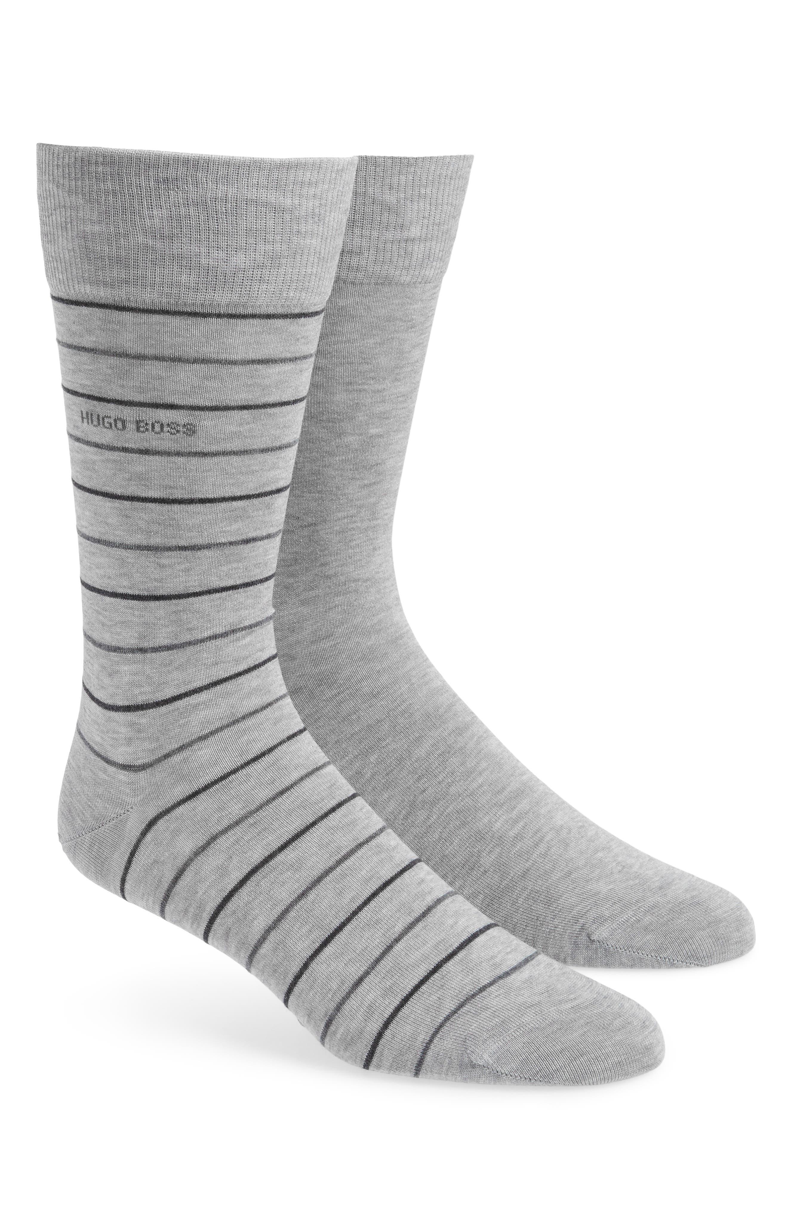 Assorted 2-Pack Socks,                             Main thumbnail 1, color,                             GREY