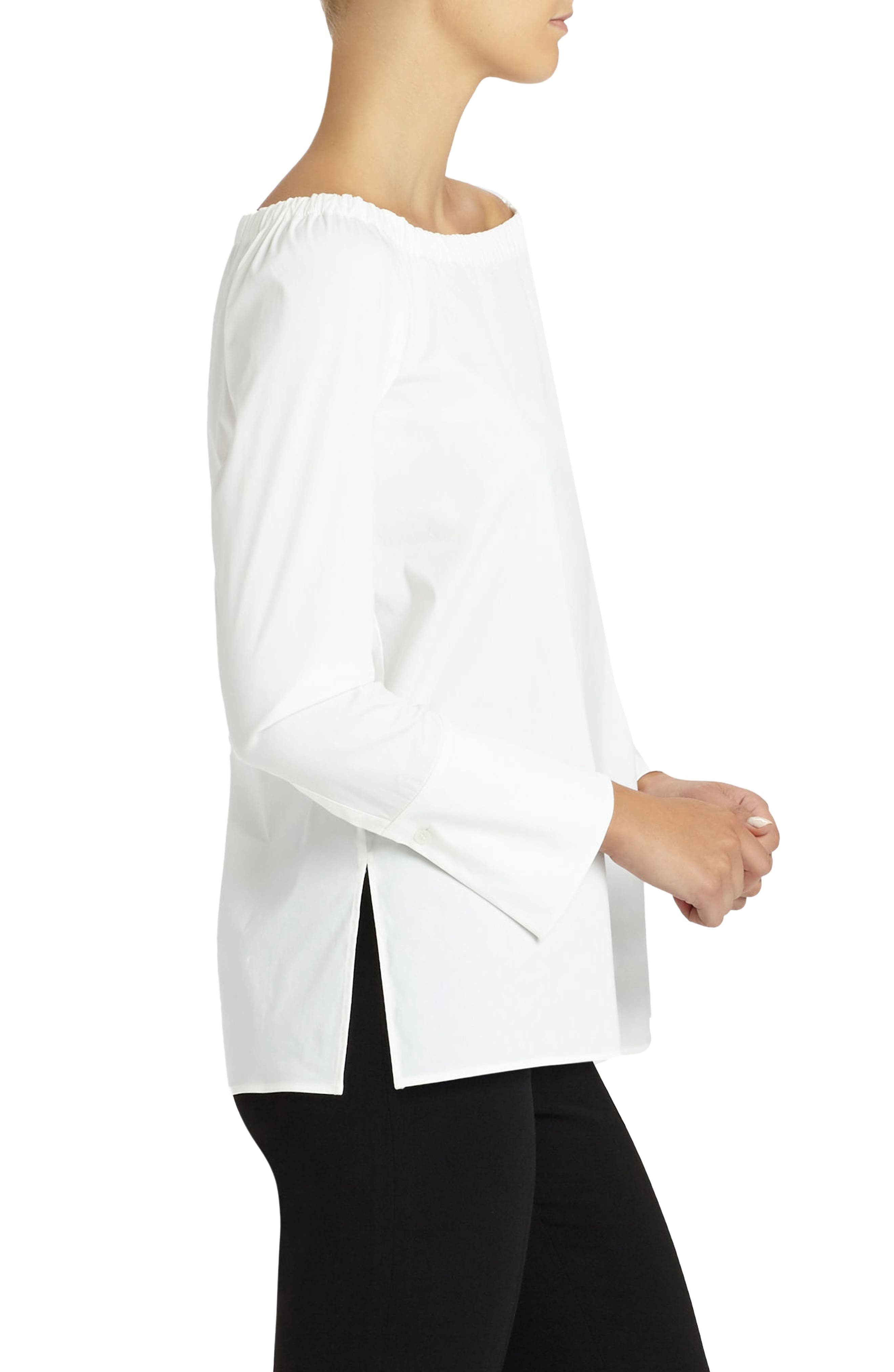 LAFAYETTE 148 NEW YORK,                             Amy Blouse,                             Alternate thumbnail 2, color,                             WHITE