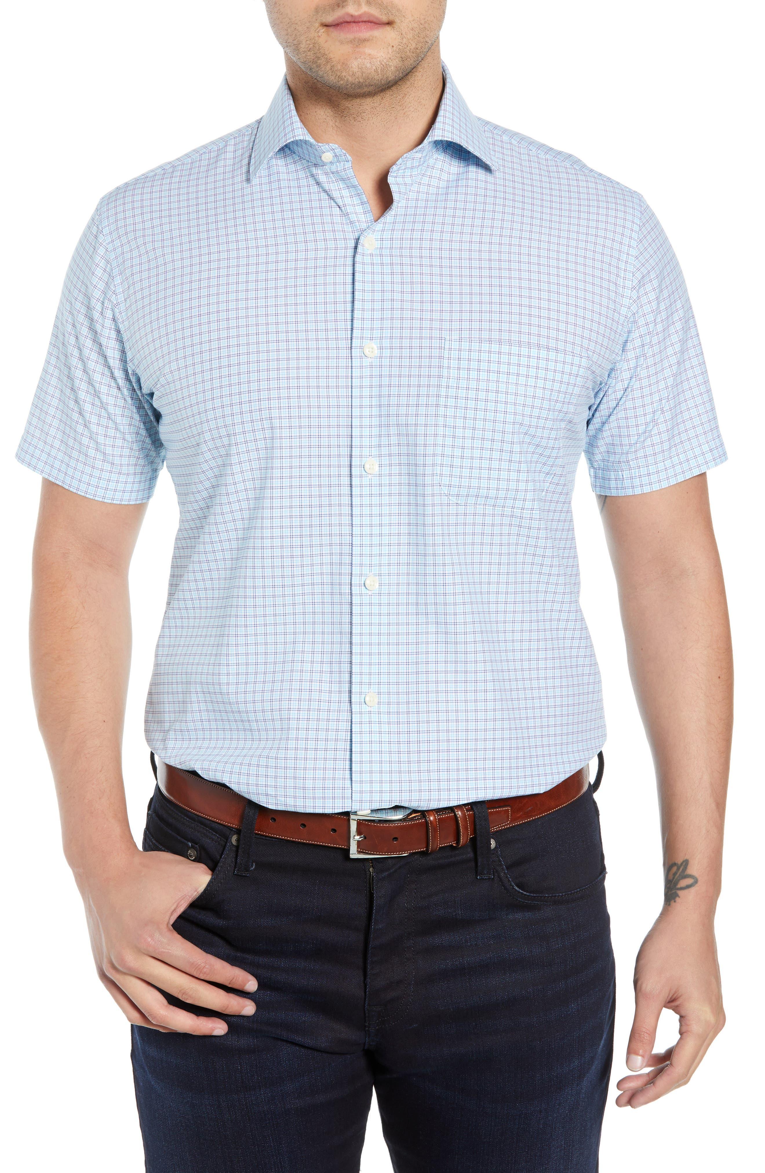 Peter Millar Rome Regular Fit Sport Shirt, Blue