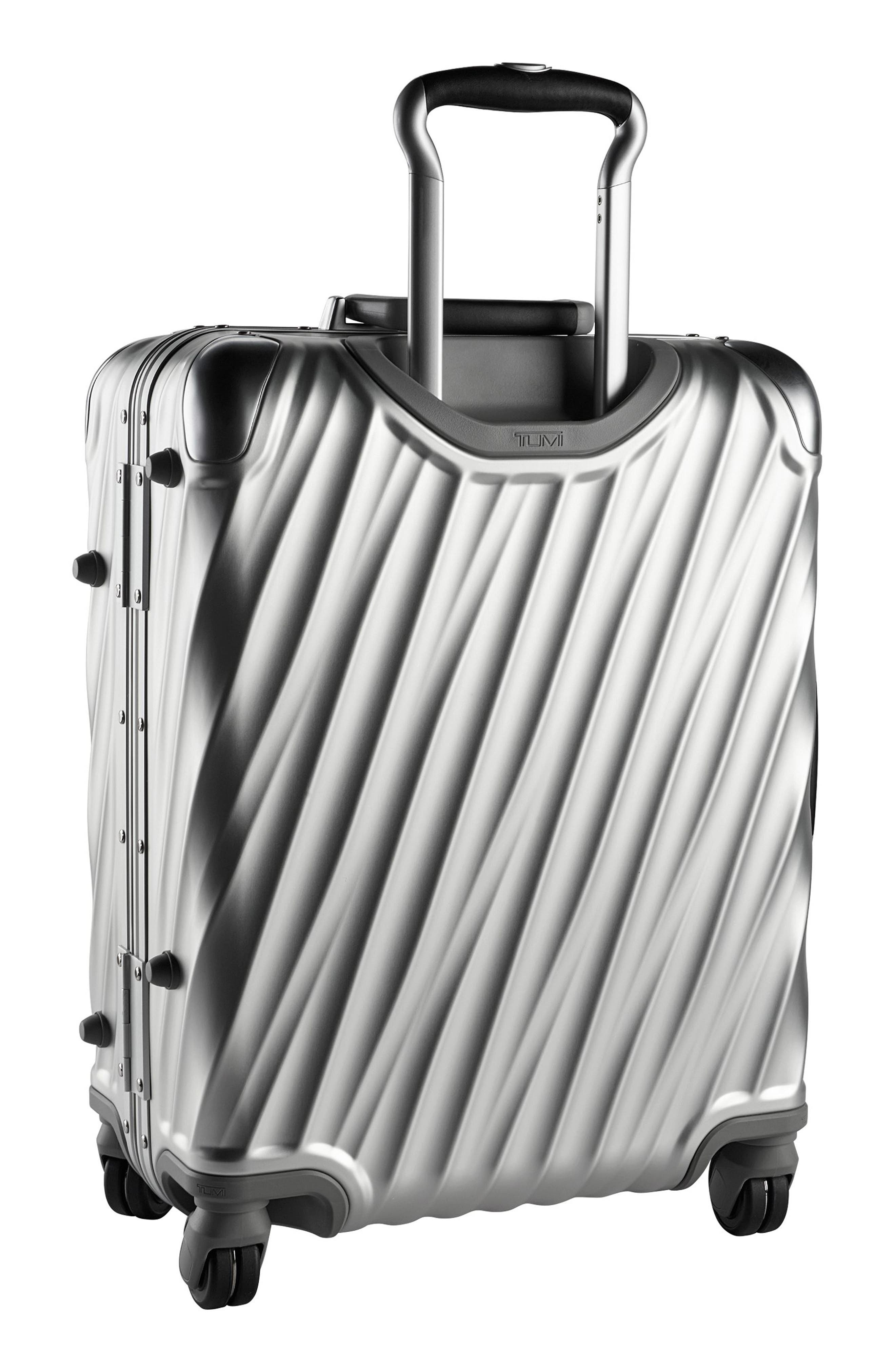 19 Degree 22-Inch Continental Wheeled Aluminum Carry-On,                             Alternate thumbnail 4, color,                             SILVER
