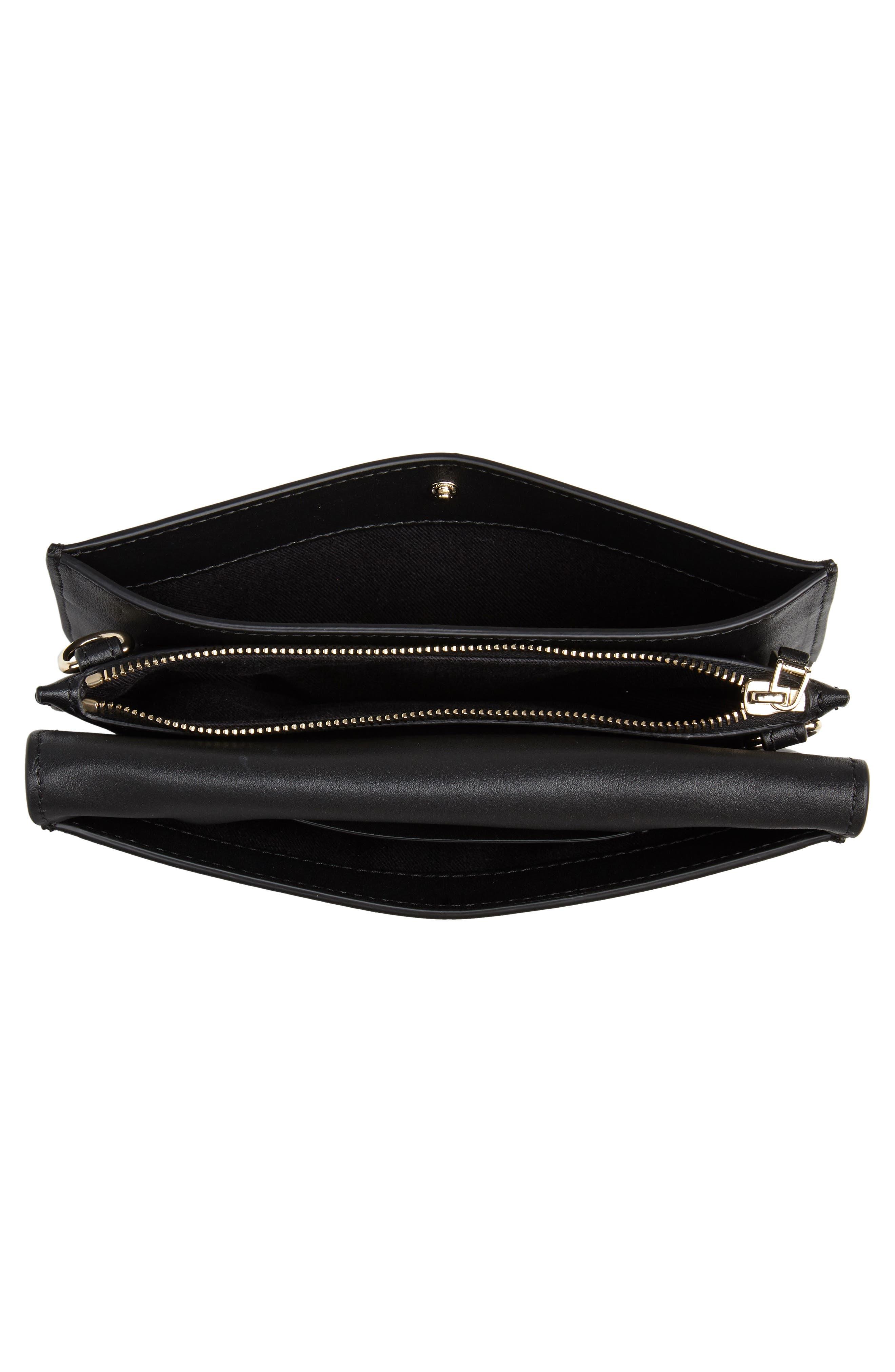 Very V Mini Leather Shoulder Bag,                             Alternate thumbnail 5, color,                             001