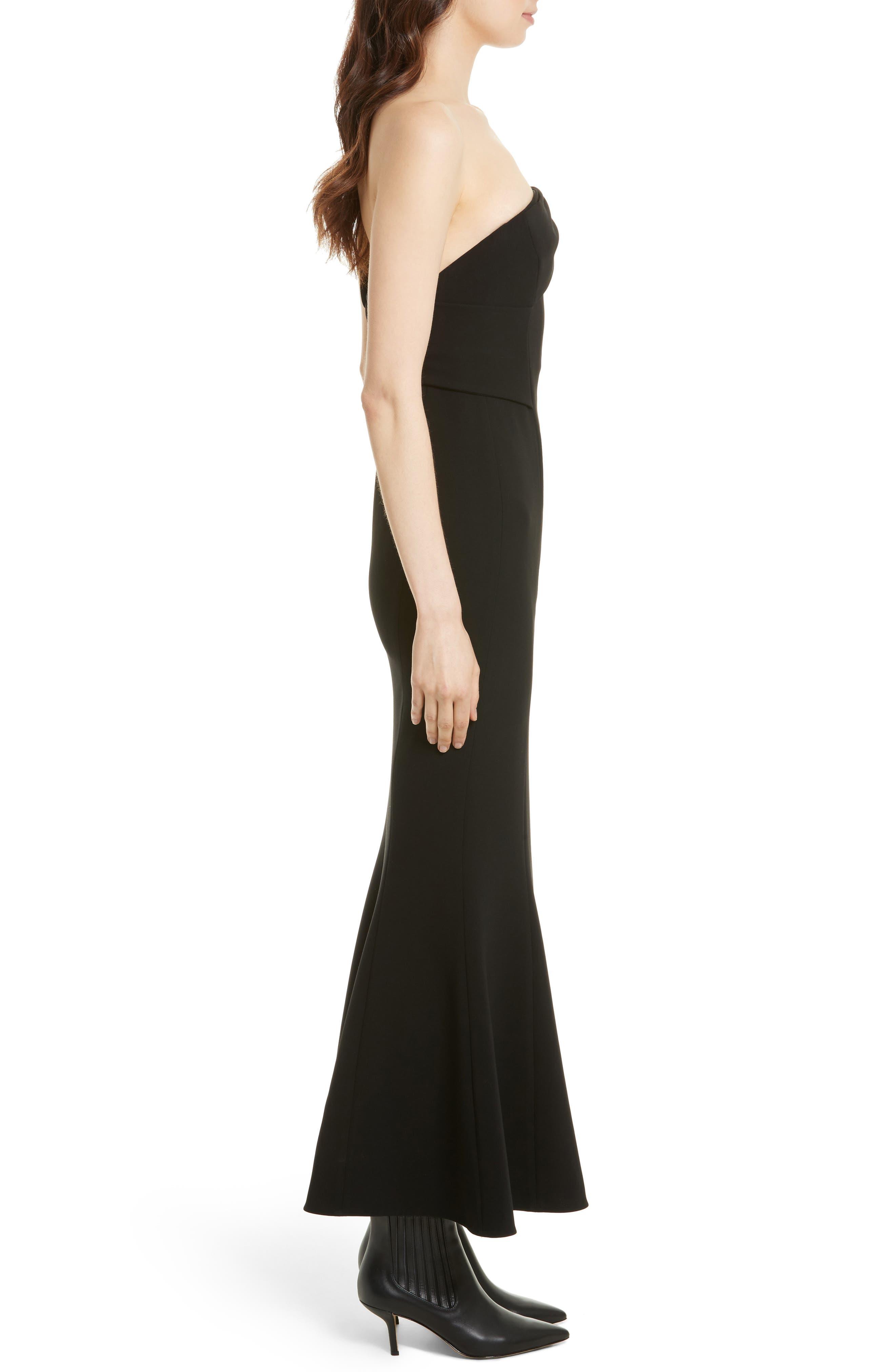 One-Shoulder Gown,                             Alternate thumbnail 3, color,                             001