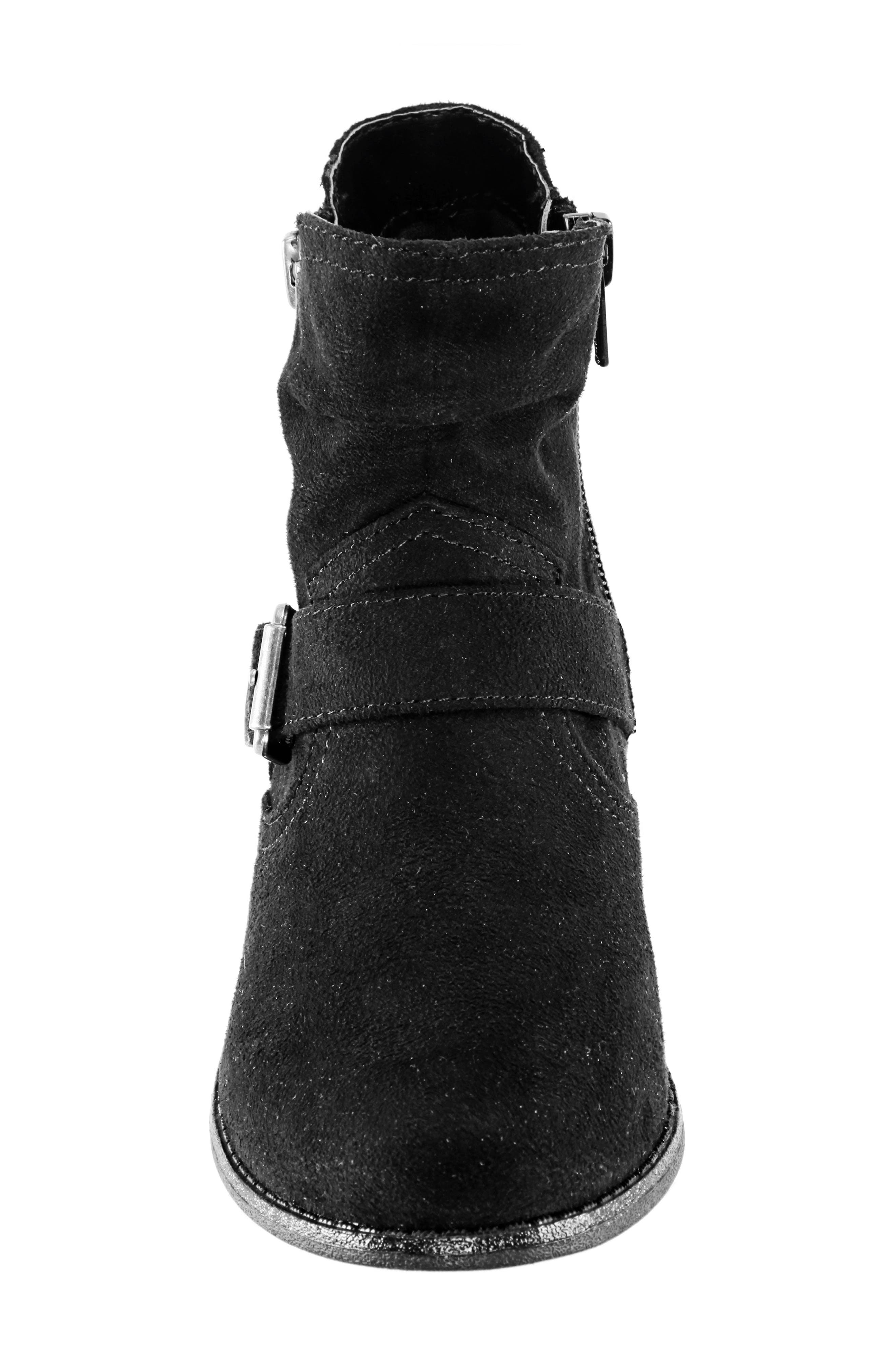 Dorrie Moto Bootie,                             Alternate thumbnail 4, color,                             BLACK BURNISHED