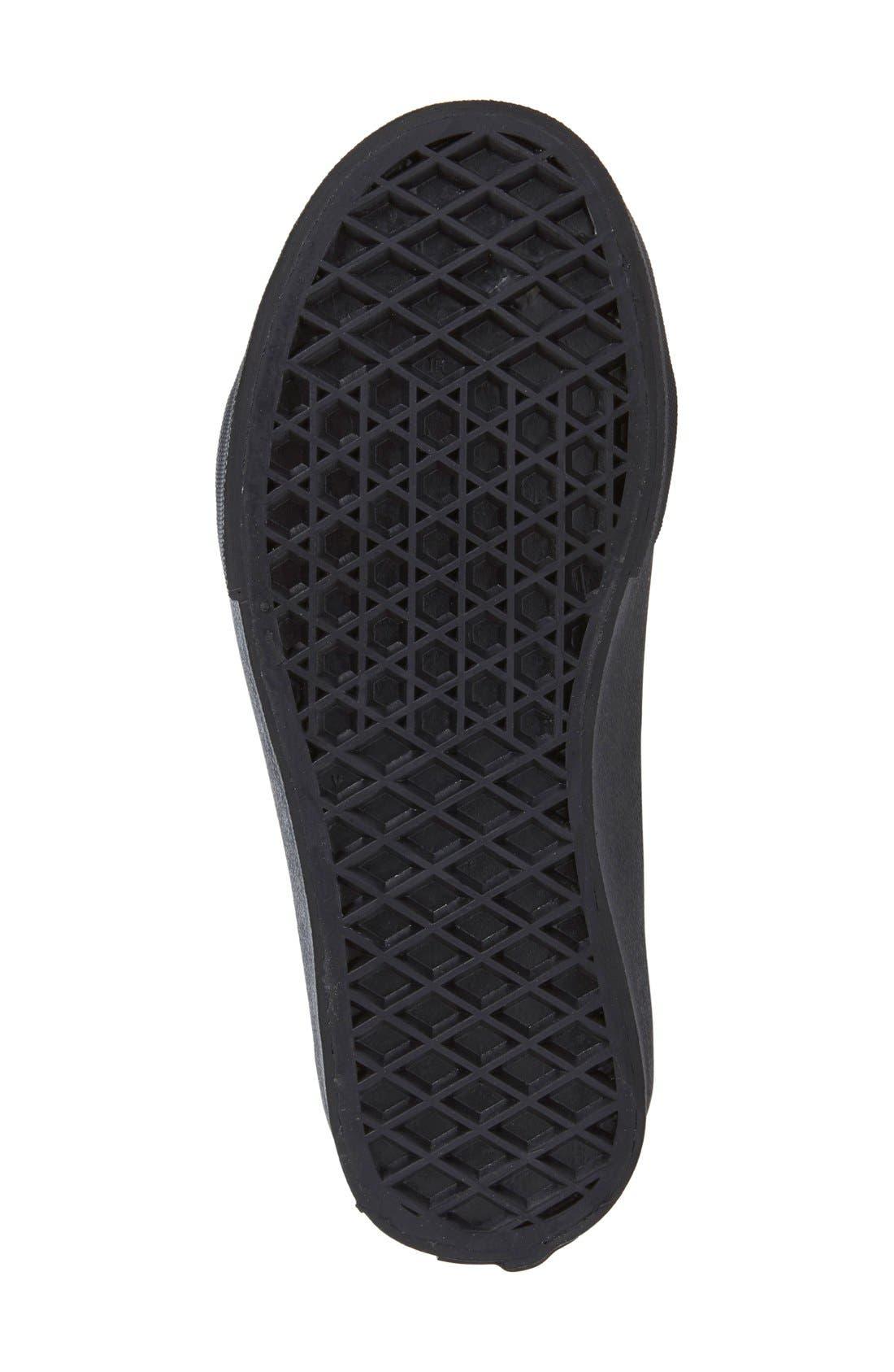 'Sk8-Hi' Zip Sneaker,                             Alternate thumbnail 2, color,                             BLACK /BLACK CHECK