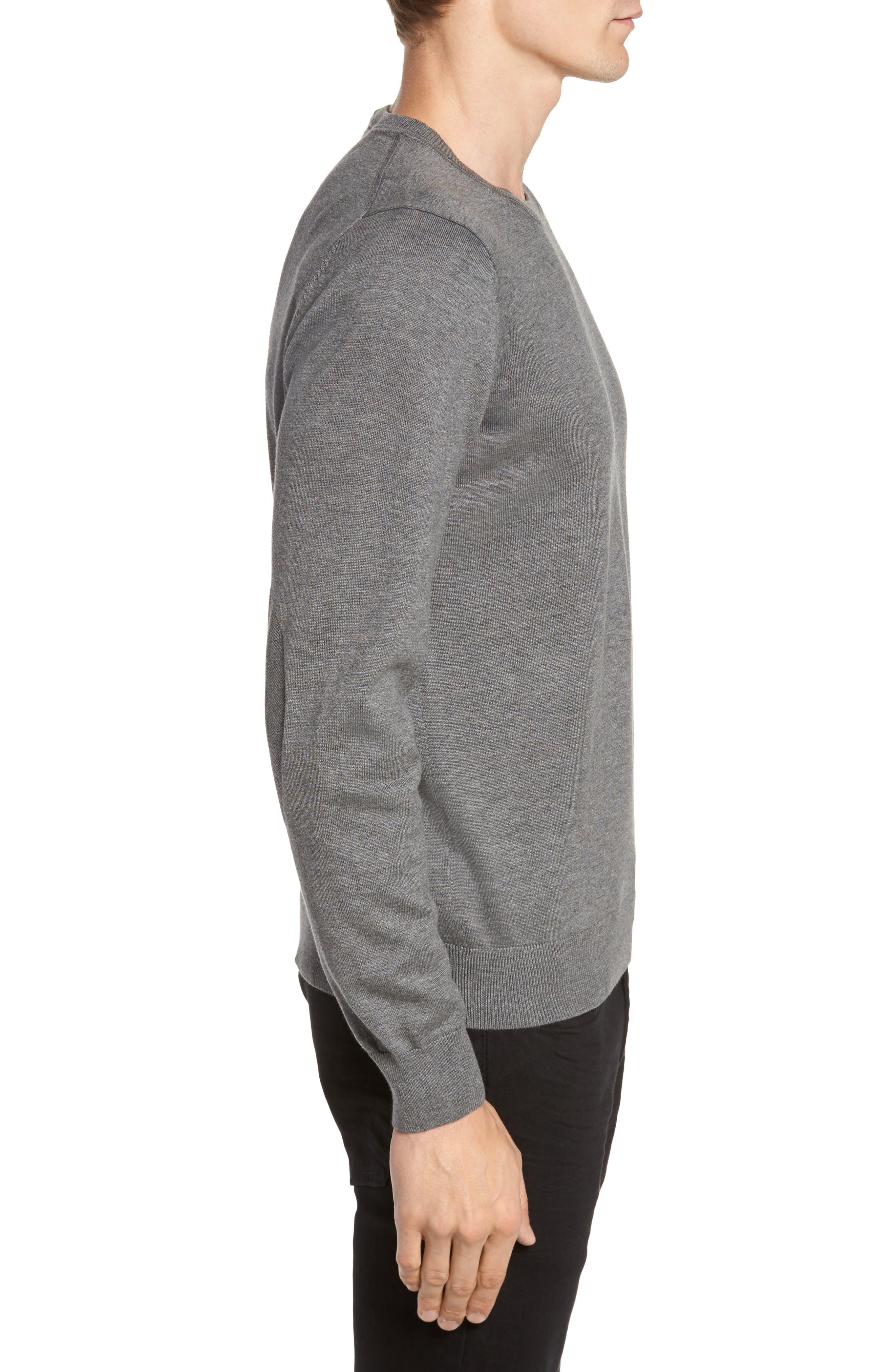 Jersey Knit Crewneck Sweater,                             Alternate thumbnail 3, color,                             032