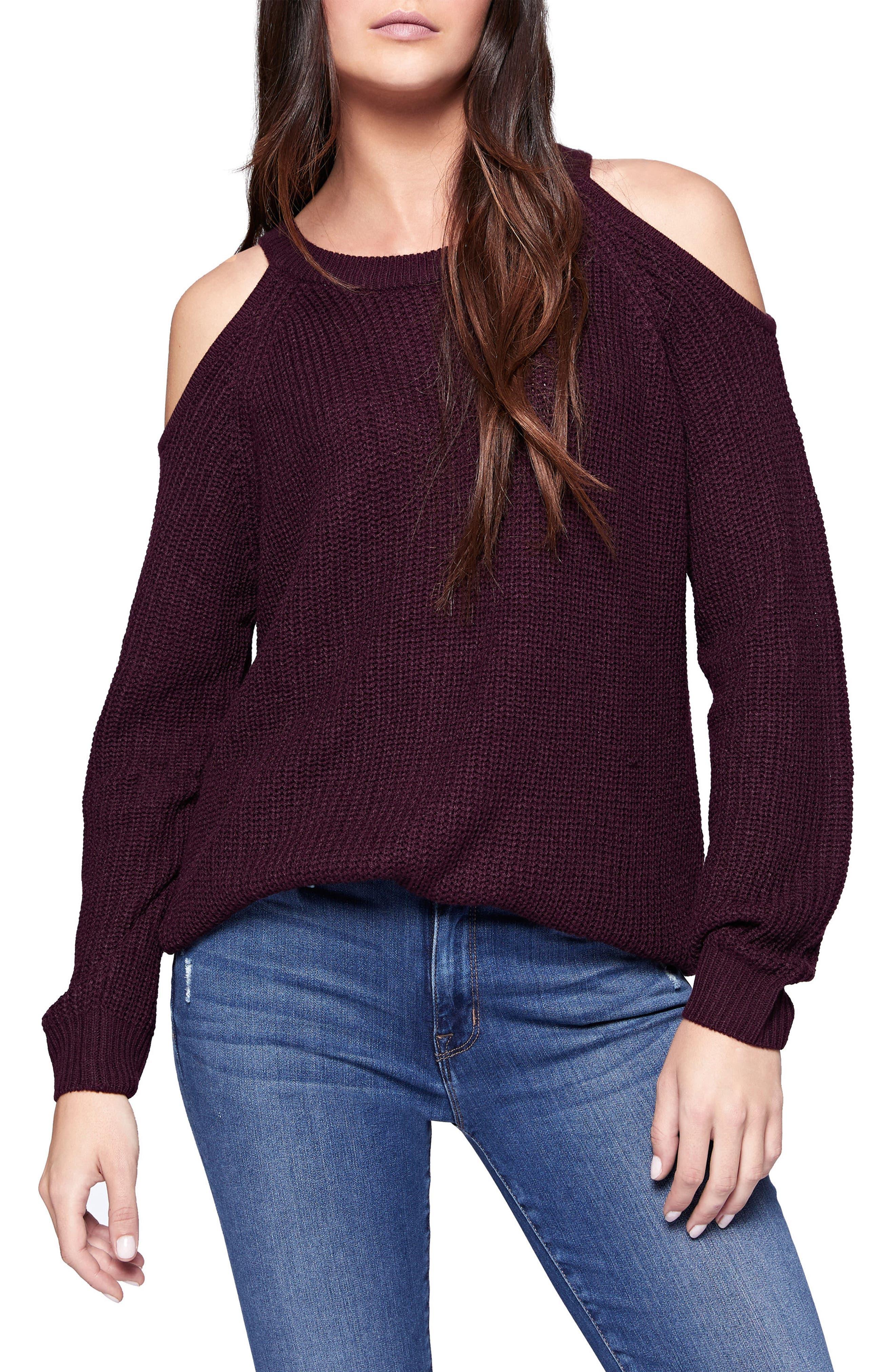 Riley Cold Shoulder Sweater,                             Main thumbnail 8, color,
