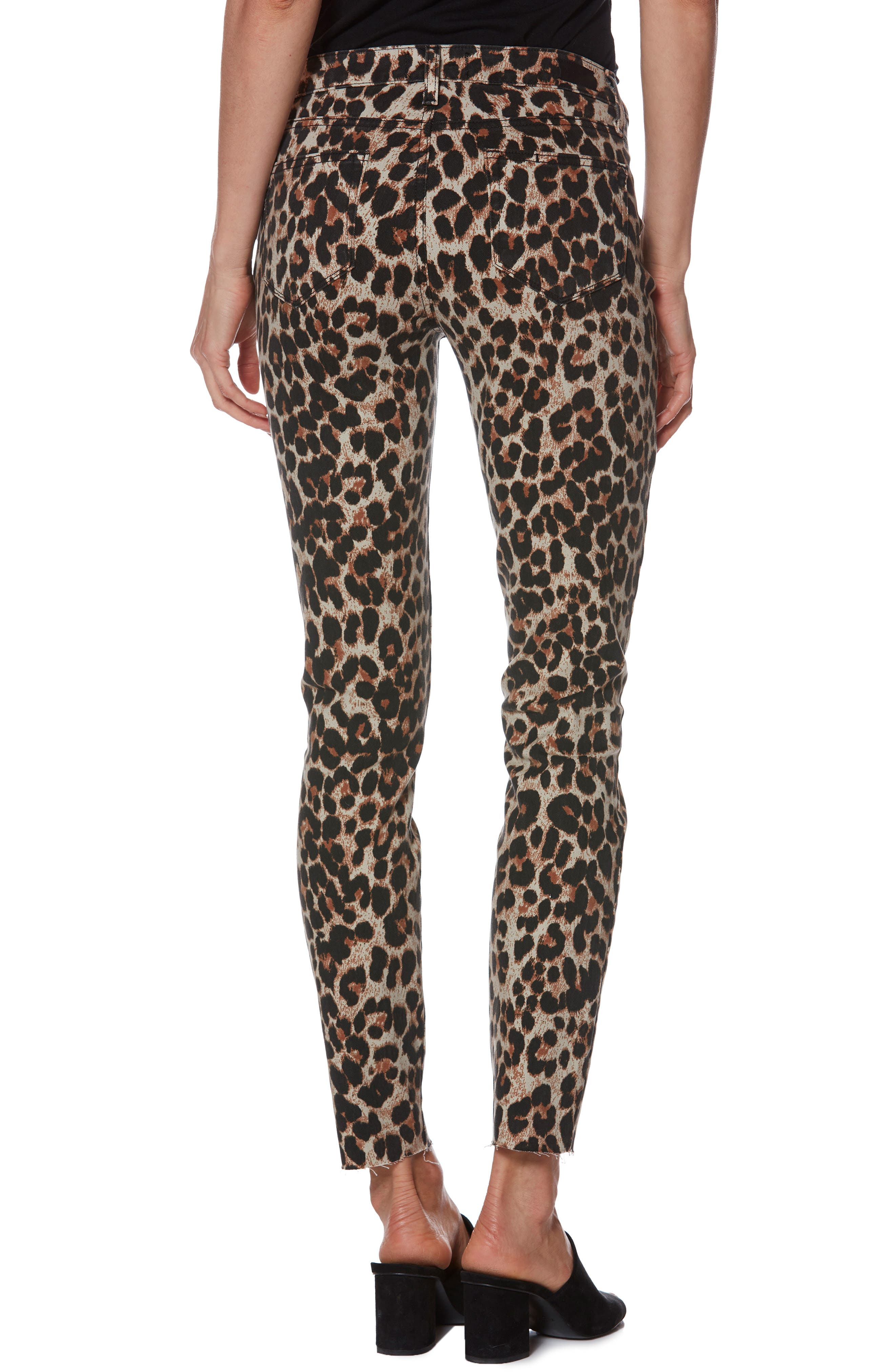 Verdugo Ankle Skinny Jeans,                             Alternate thumbnail 2, color,                             SAHARA LEOPARD