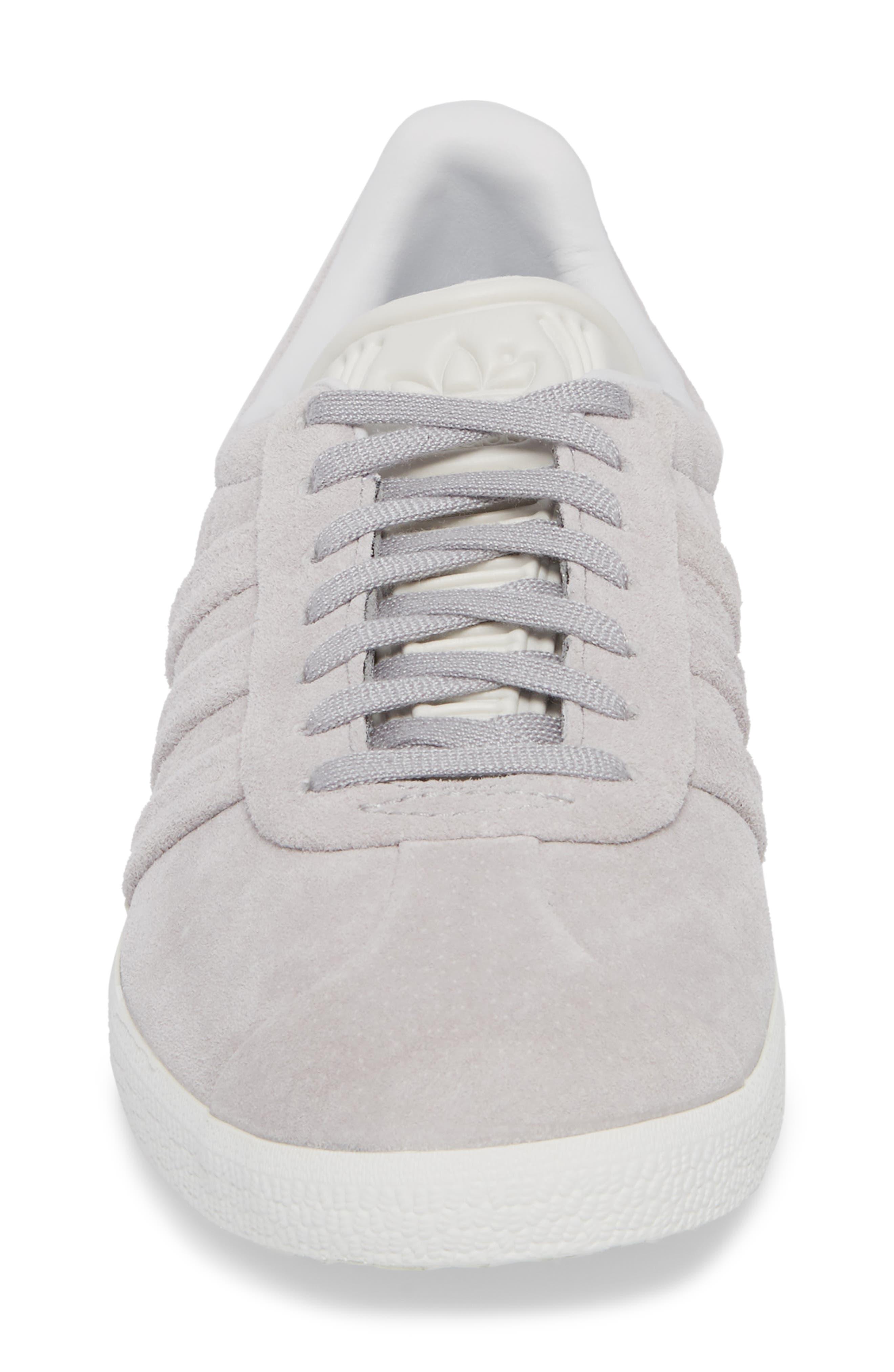 Gazelle Stitch & Turn Sneaker,                             Alternate thumbnail 4, color,                             GREY/ GREY/ WHITE