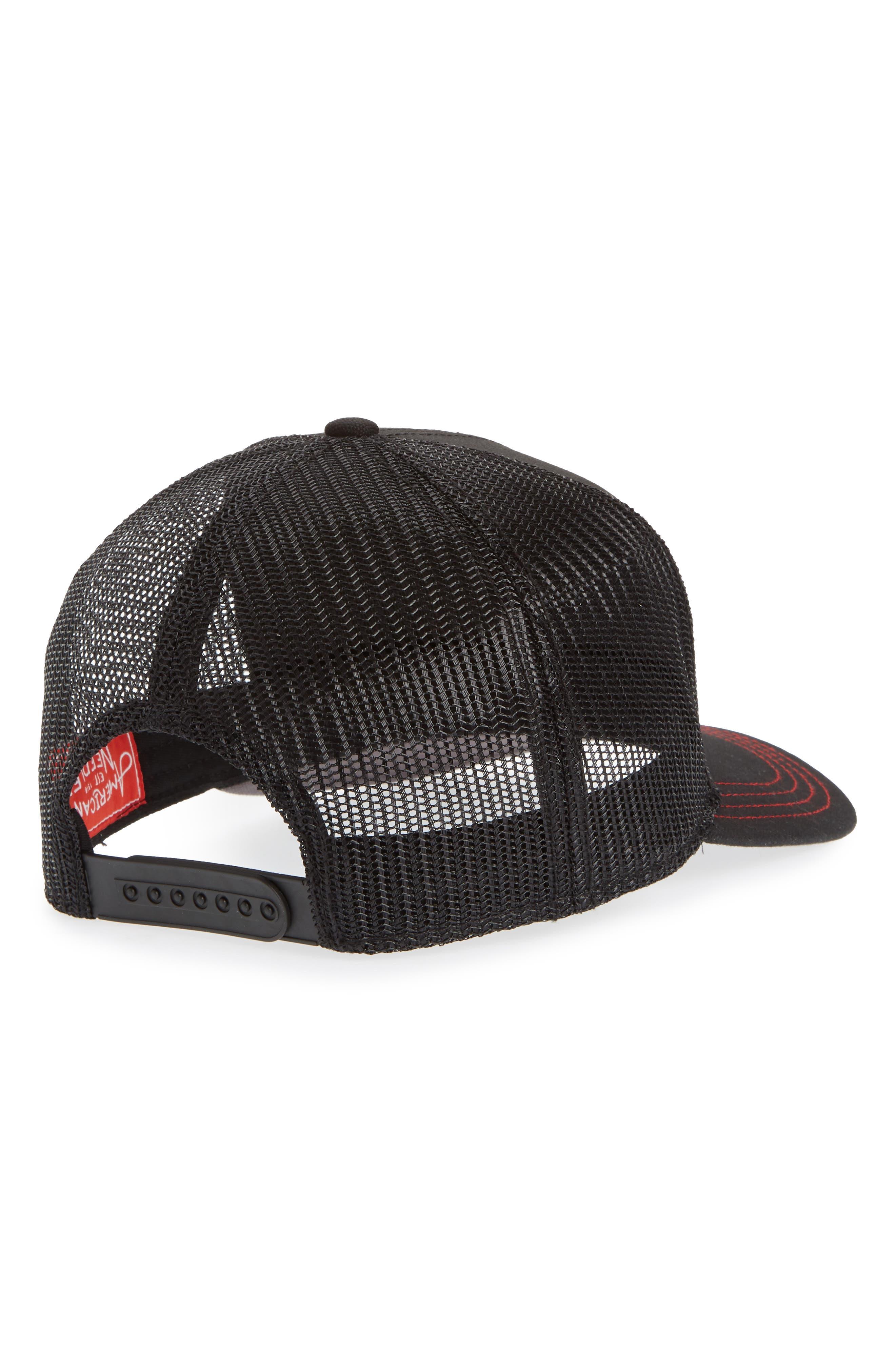 Valin KISS Trucker Hat,                             Alternate thumbnail 2, color,                             001