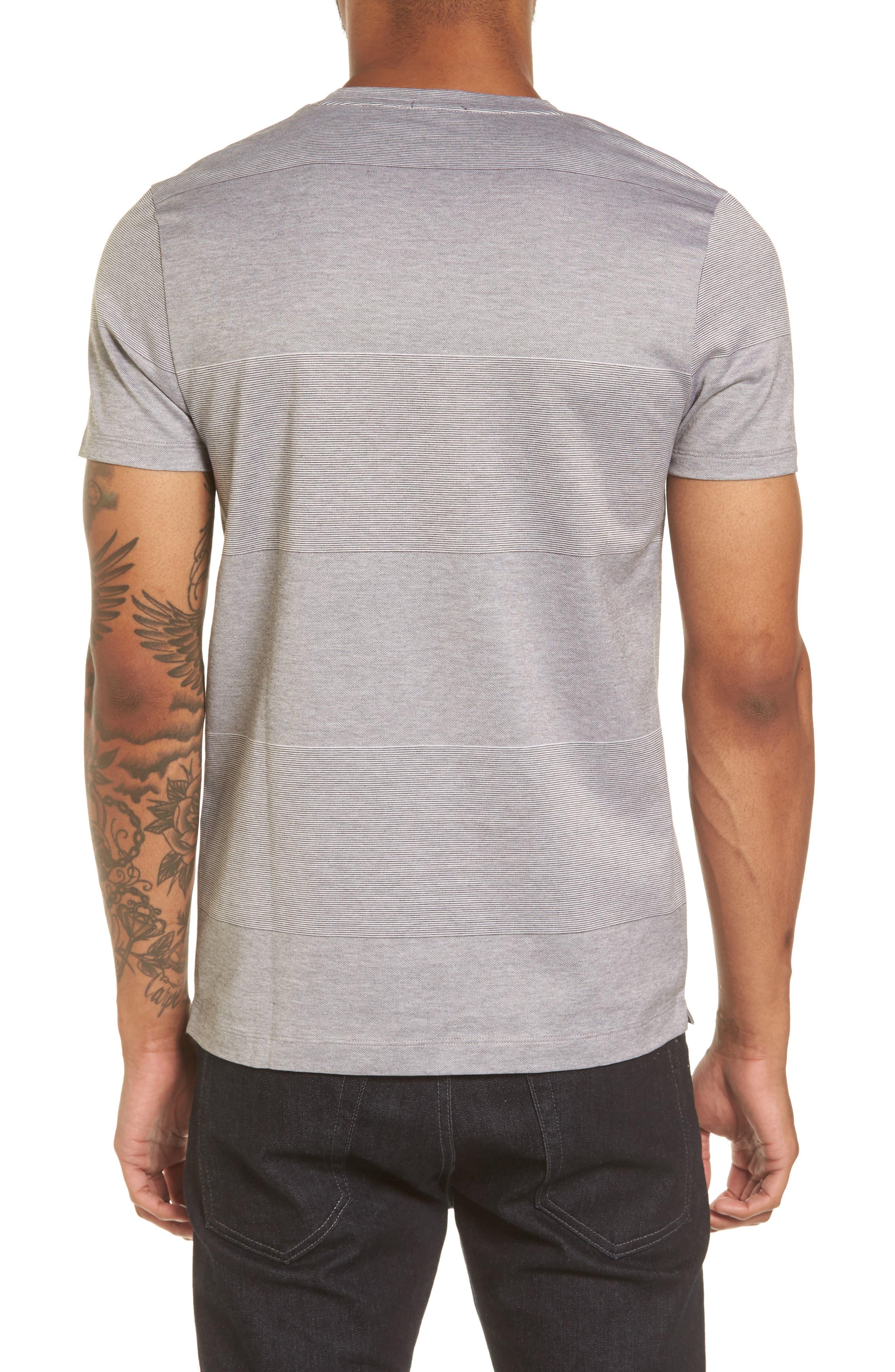 Slim Fit Stripe V-Neck T-Shirt,                             Alternate thumbnail 2, color,                             030