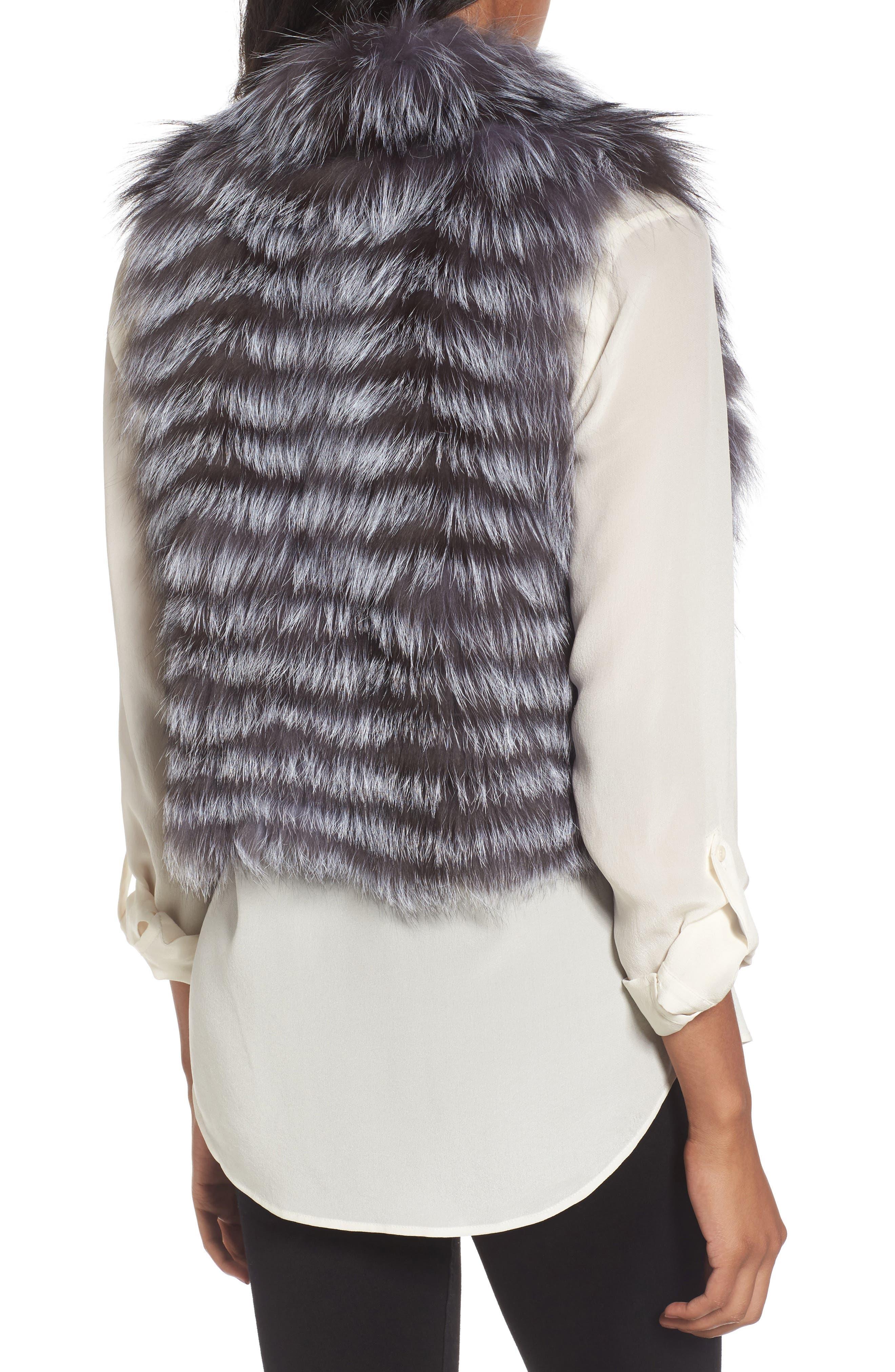 Genuine Fox Fur Vest,                             Alternate thumbnail 2, color,                             045
