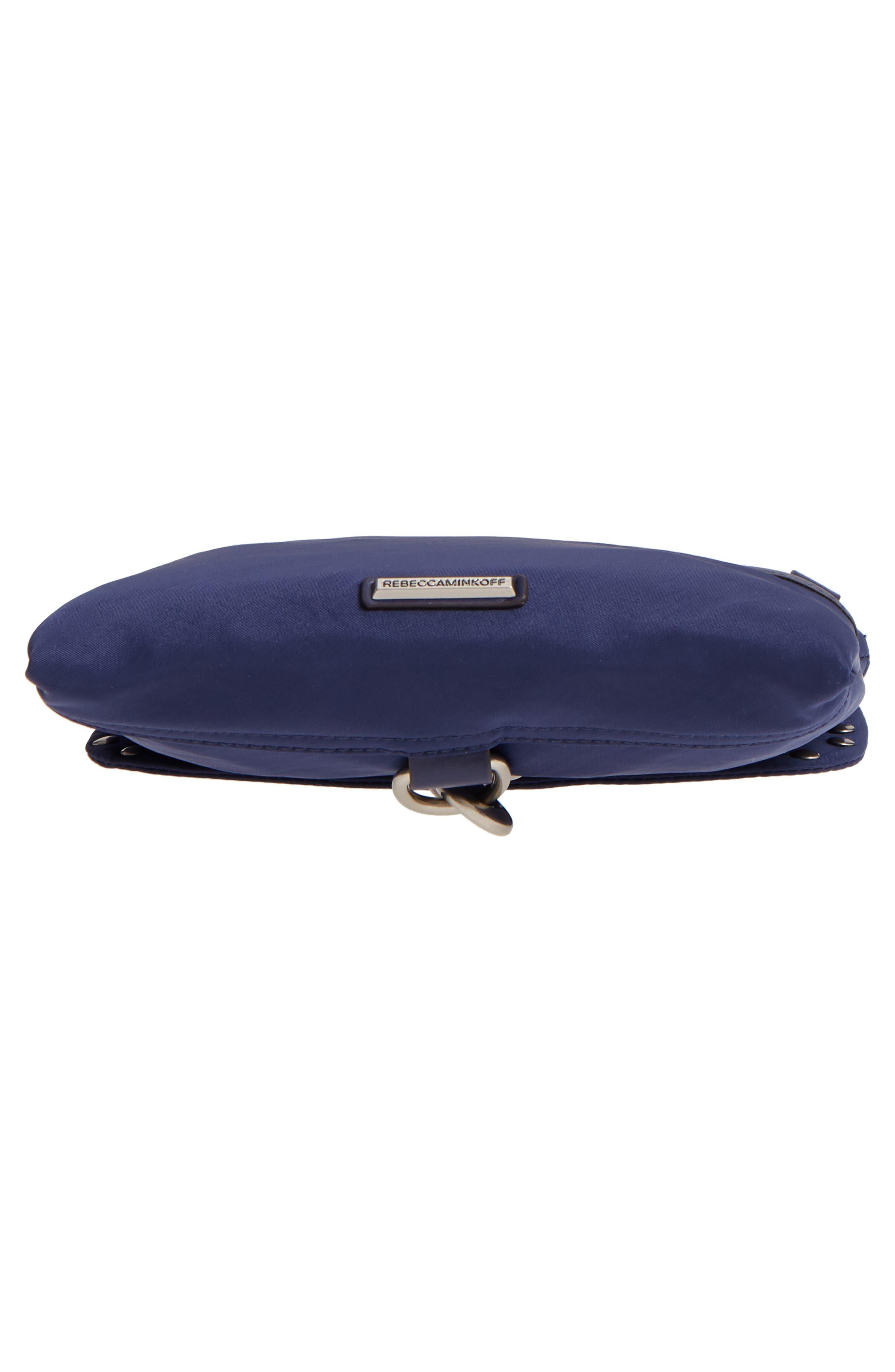 Nylon Flap Crossbody Bag,                             Alternate thumbnail 6, color,                             TRUE NAVY