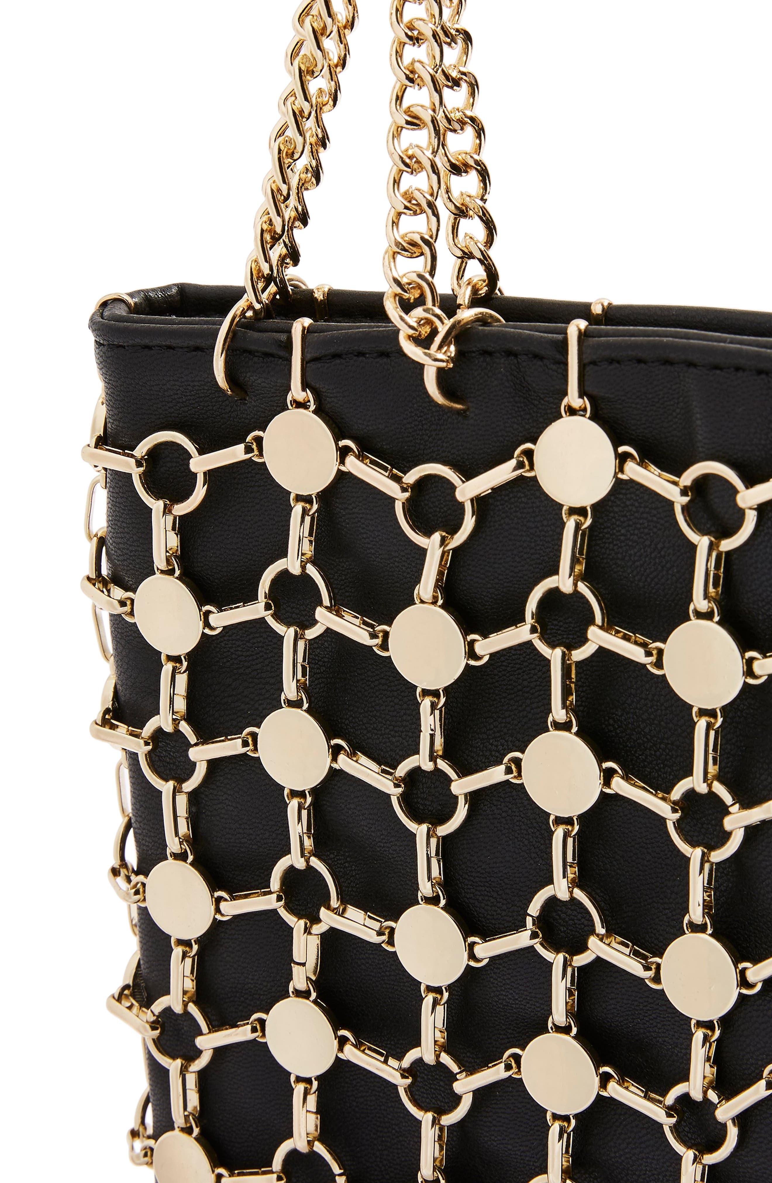 Cage Shoulder Bag,                             Alternate thumbnail 7, color,                             GOLD MULTI