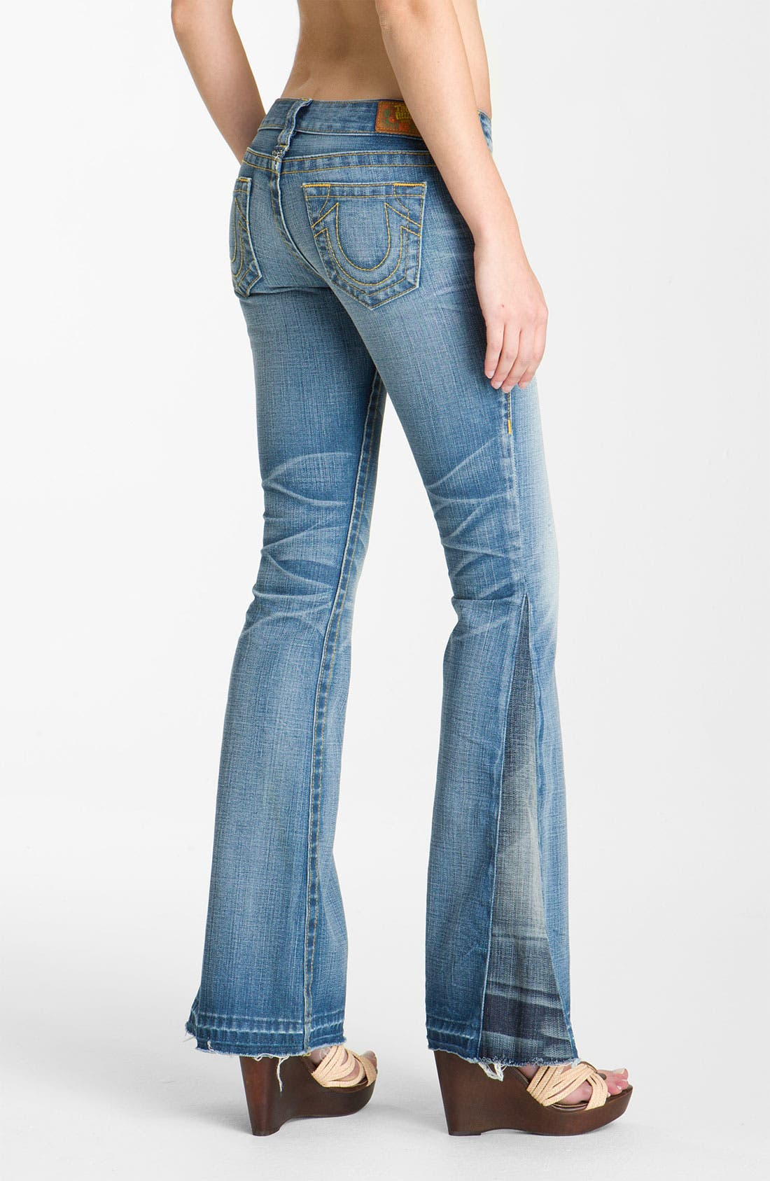 'Bobby' Flare Leg Jeans,                             Alternate thumbnail 3, color,                             400