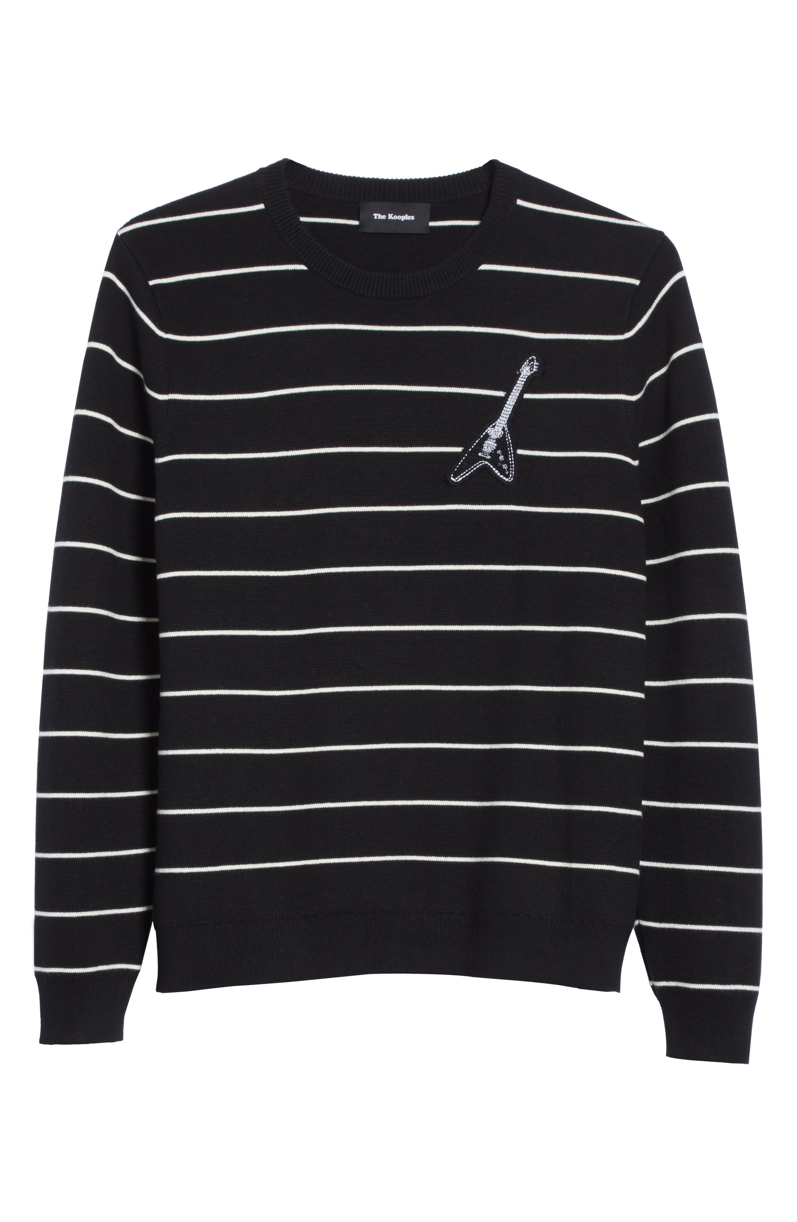 Stripe Cotton Blend Sweater,                             Alternate thumbnail 6, color,