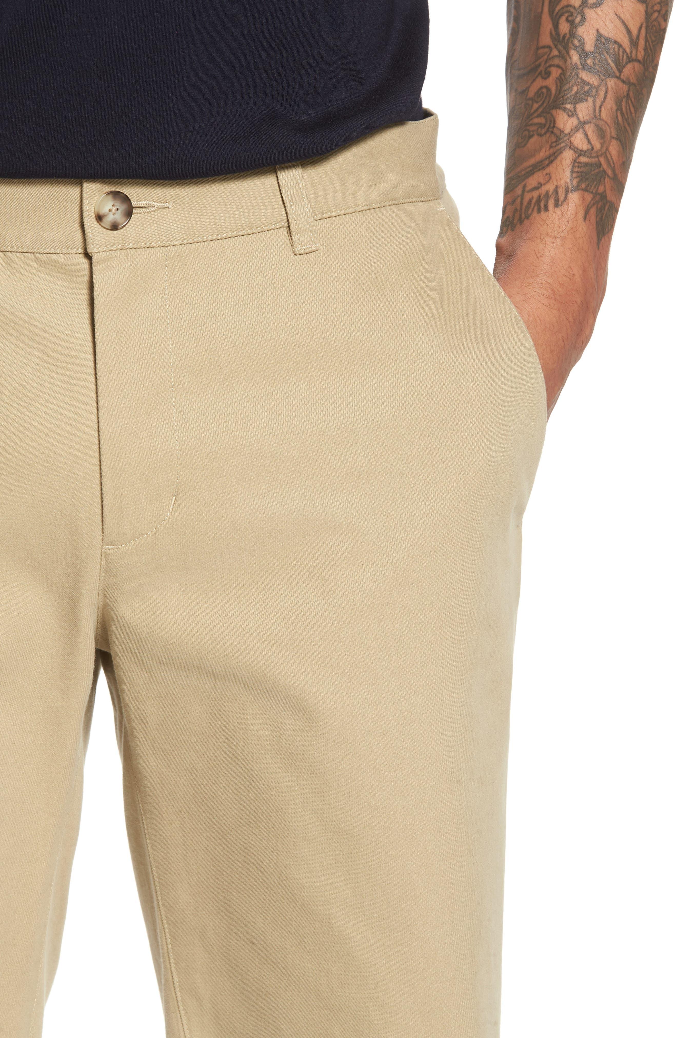 Slim Fit Chino Shorts,                             Alternate thumbnail 4, color,                             250