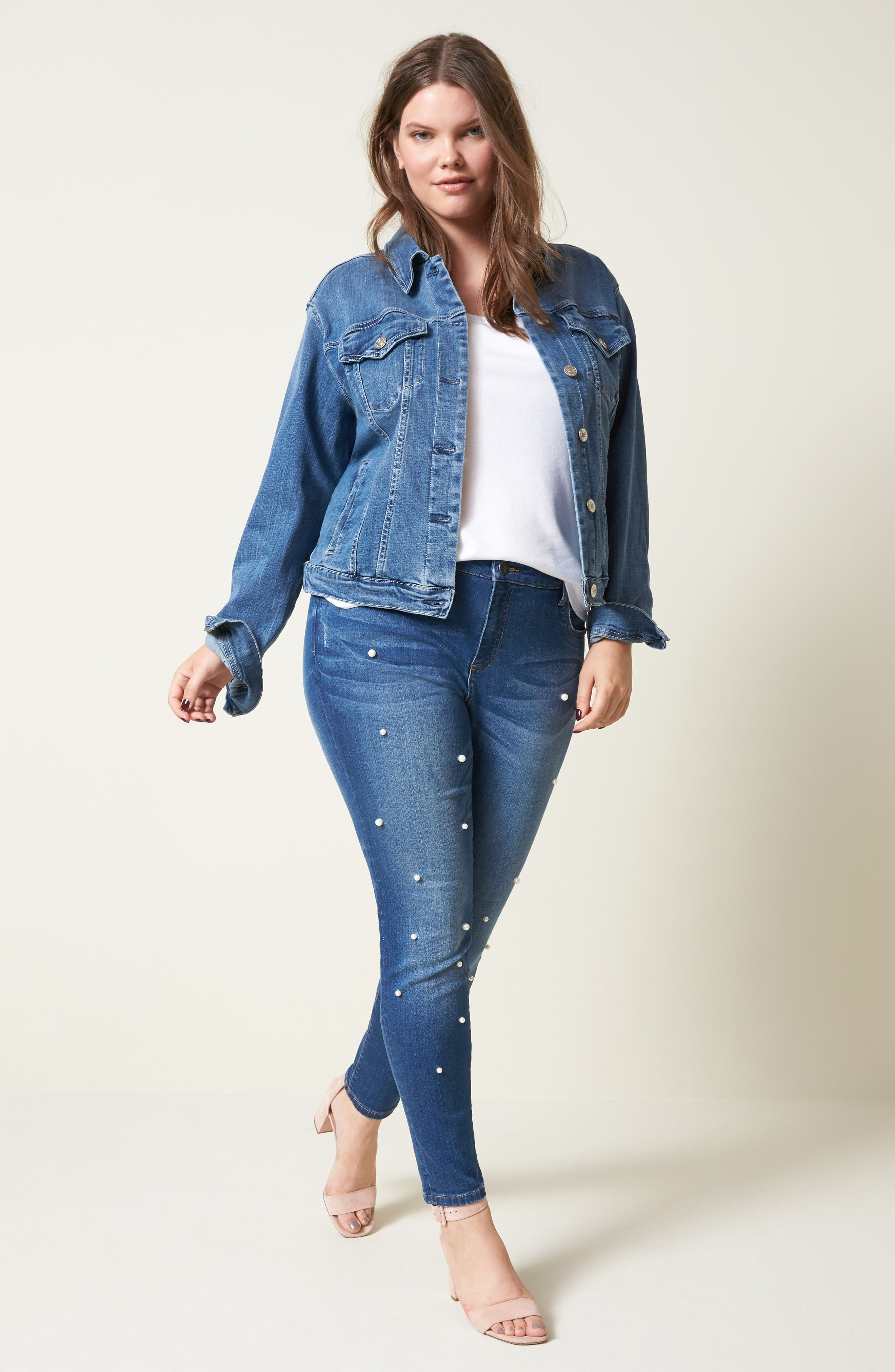 Brigitte Embellished Skinny Ankle Jeans,                             Alternate thumbnail 7, color,                             BEWITCHING