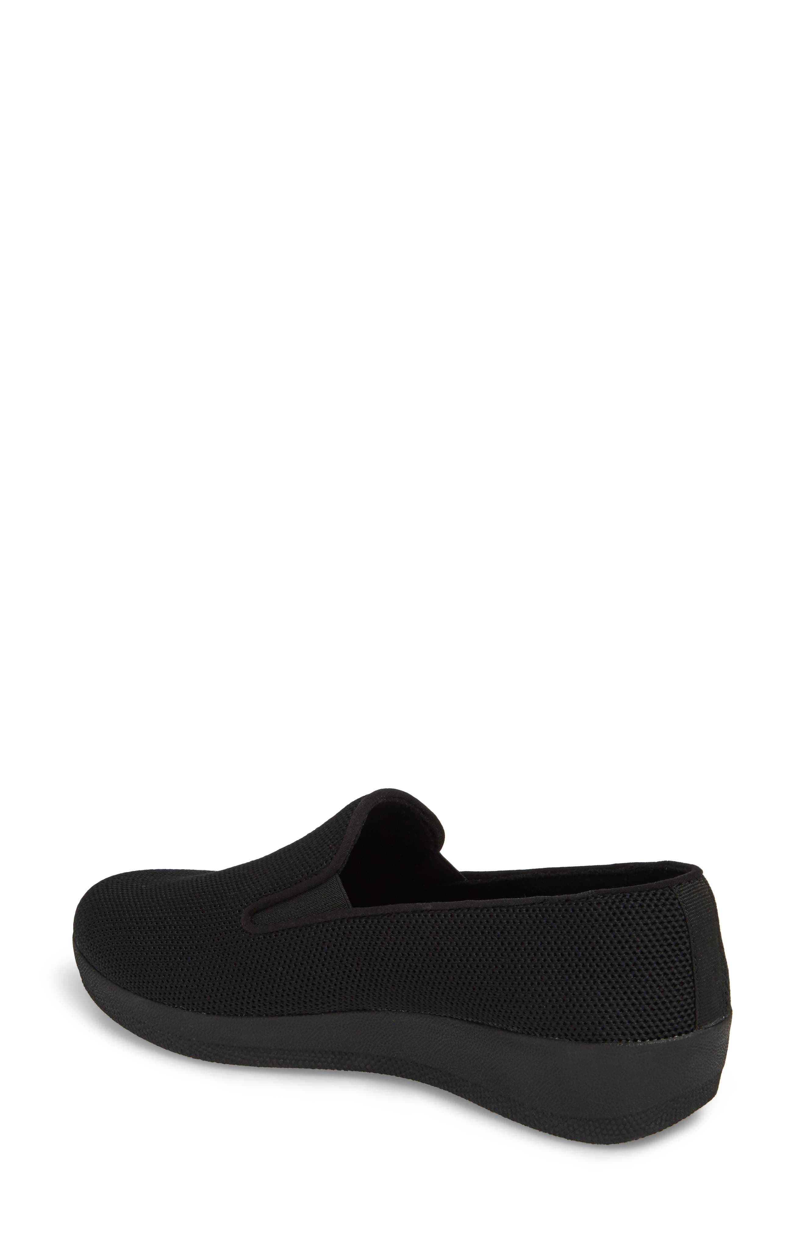 FITFLOP,                             Superskate<sup>™</sup> Überknit<sup>™</sup> Loafer,                             Alternate thumbnail 2, color,                             ALL BLACK