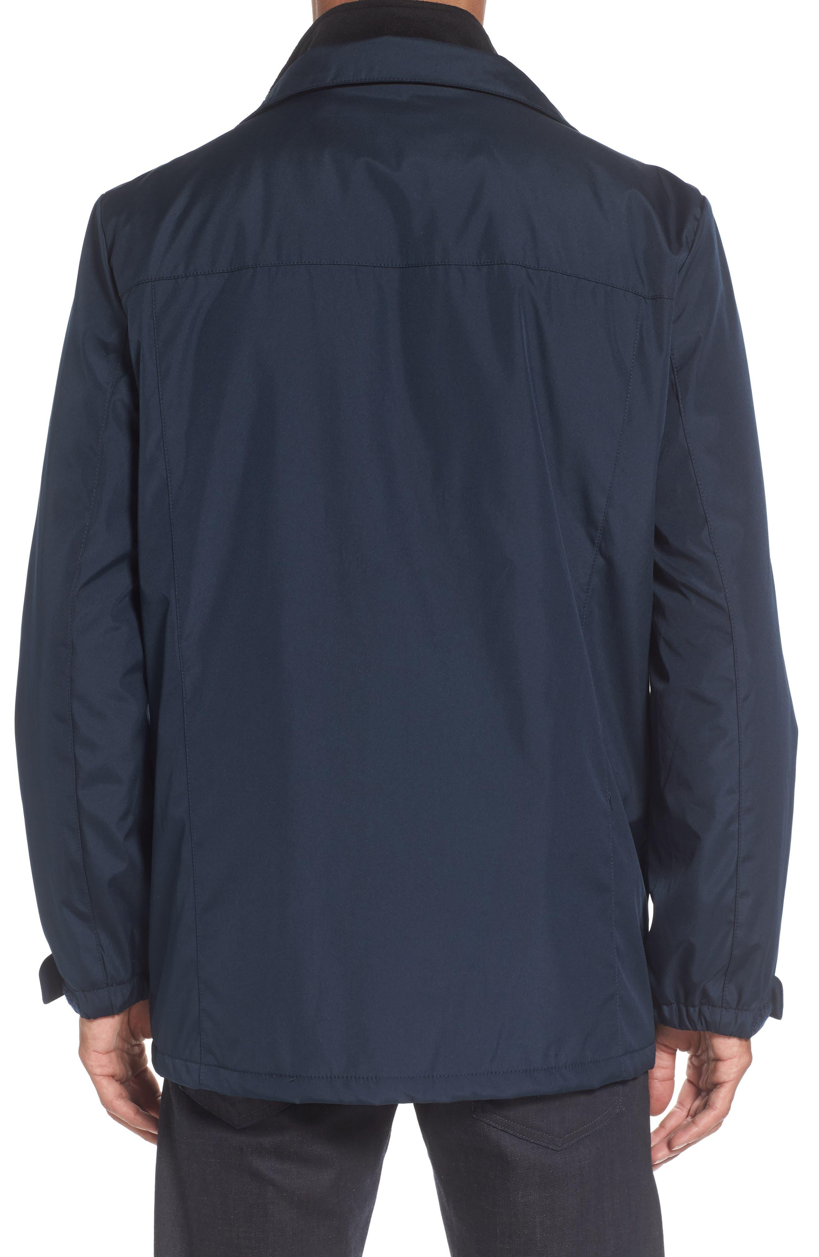 Hooded Jacket with Inset Fleece Bib,                             Alternate thumbnail 16, color,