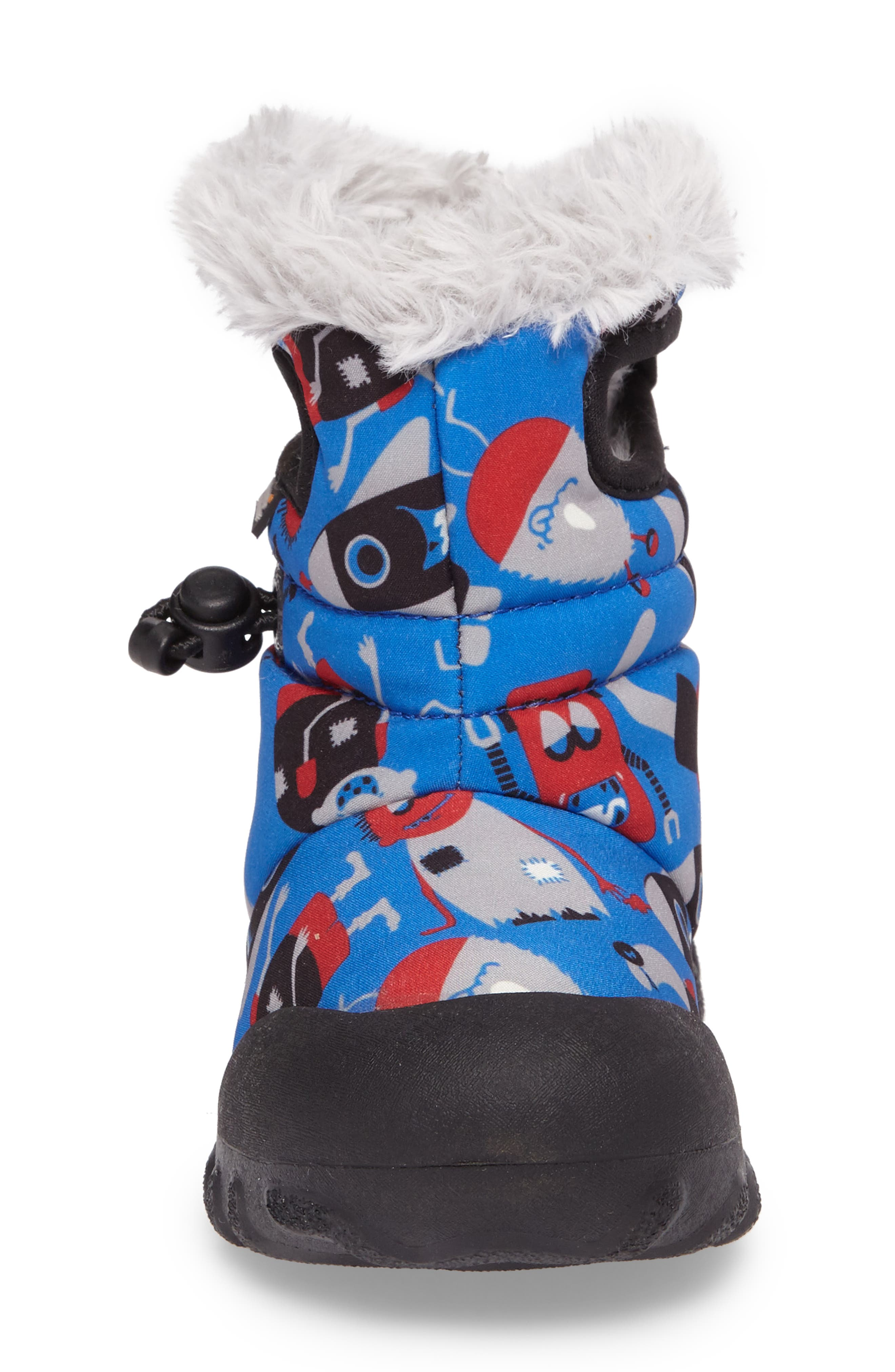 B-MOC Monsters Waterproof Insulated Faux Fur Winter Boot,                             Alternate thumbnail 4, color,                             409