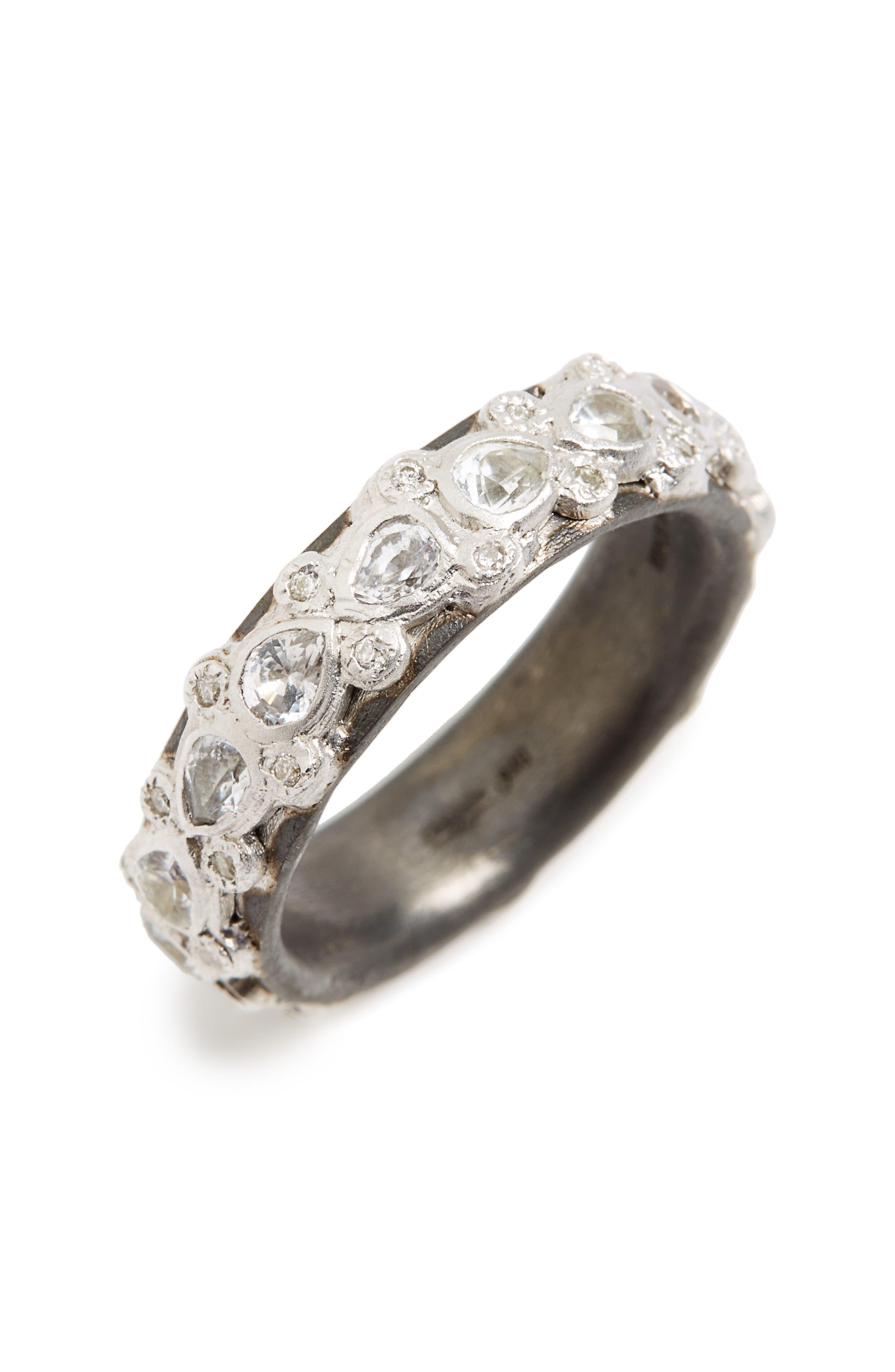 ARMENTA,                             New World Sapphire Stack Ring,                             Main thumbnail 1, color,                             SILVER