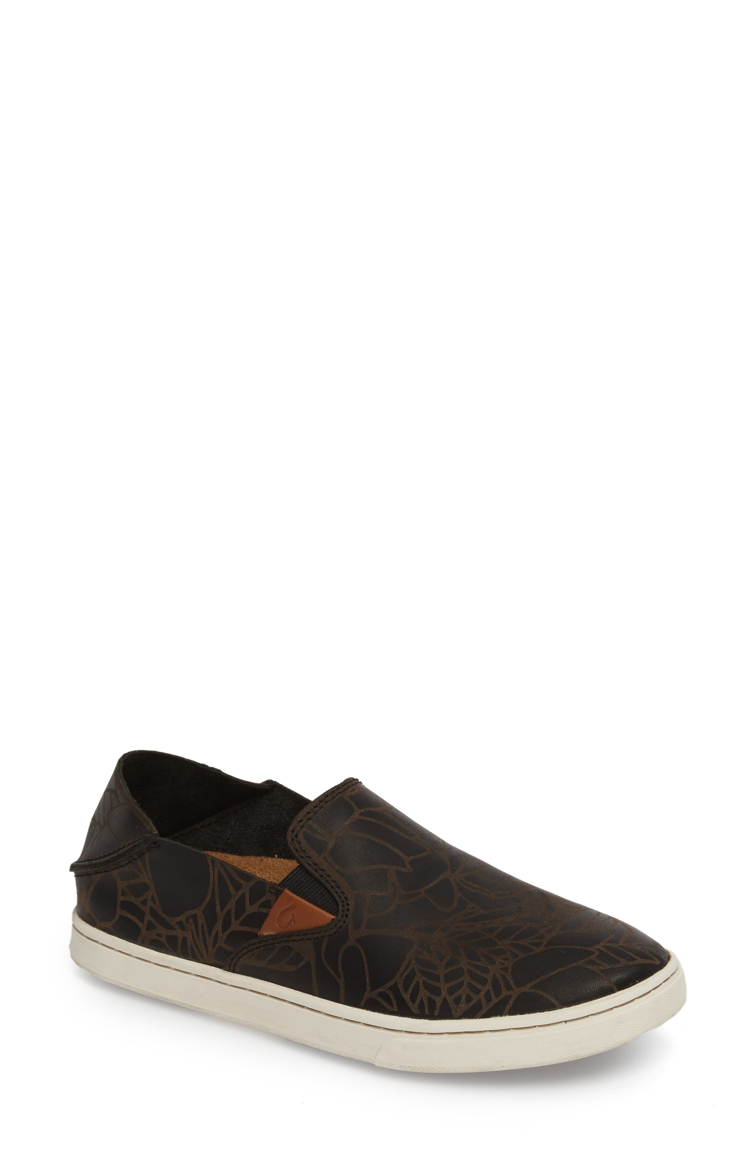 Pehuea Lau Slip-On Sneaker,                             Alternate thumbnail 2, color,                             BLACK/ BLACK FABRIC