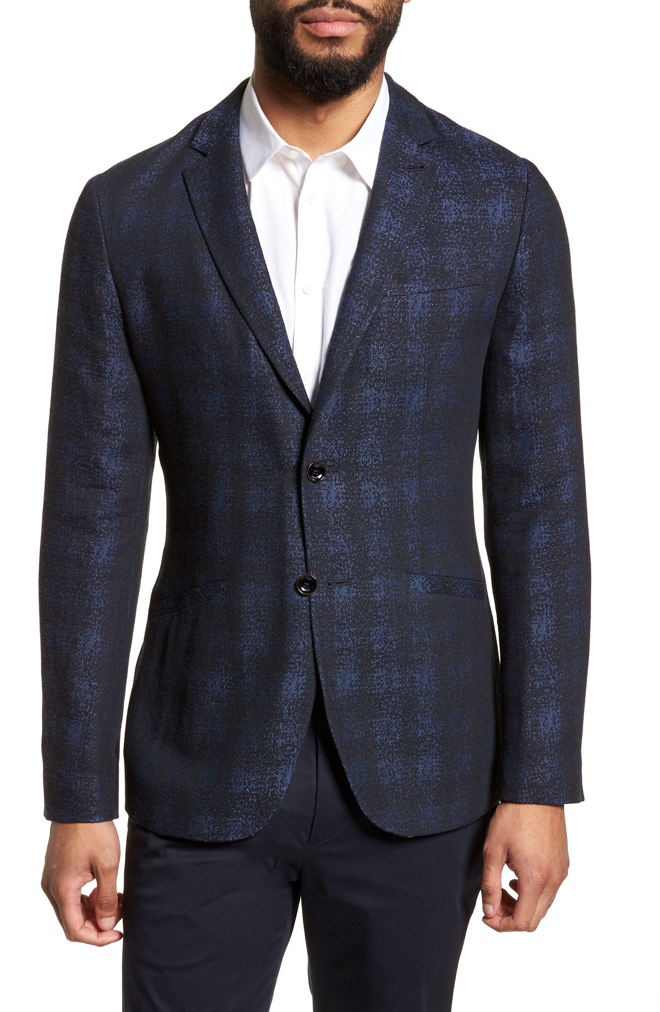 Dors Trim Fit Check Blazer,                         Main,                         color, 410